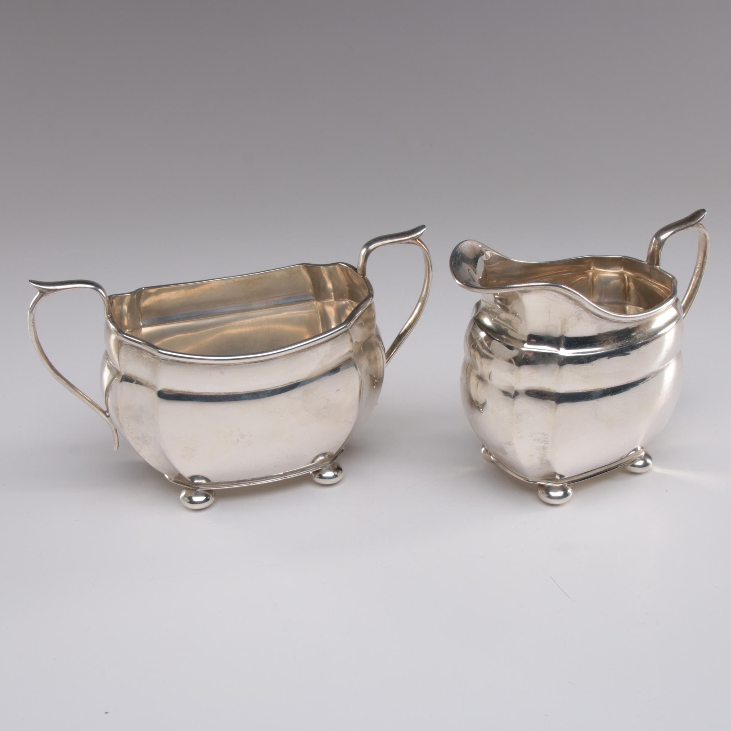 S. Blackensee & Sons Sterling Creamer and Sugar Bowl, 1930s