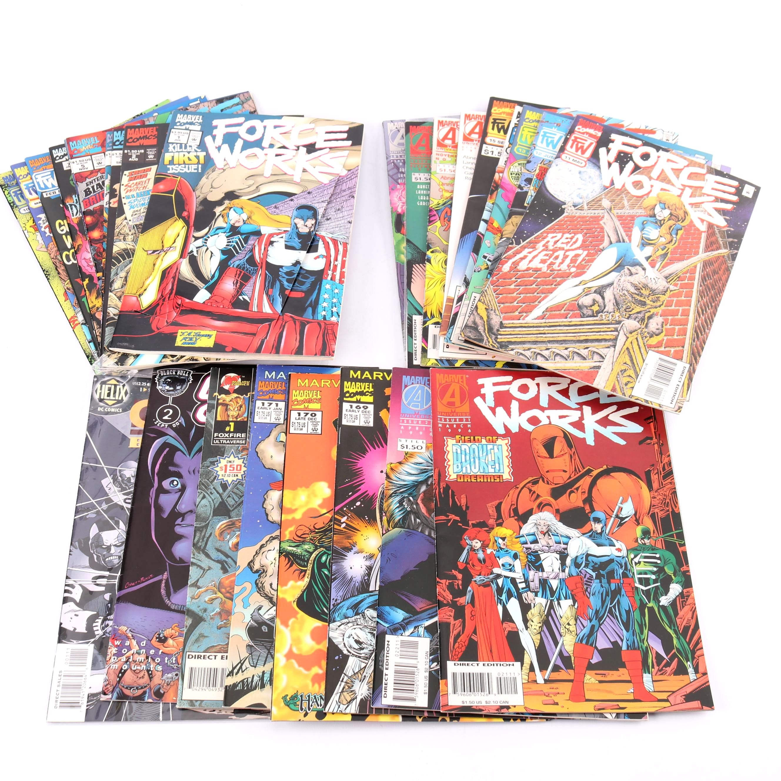 "Modern Age ""Force Works"" Comic Books"