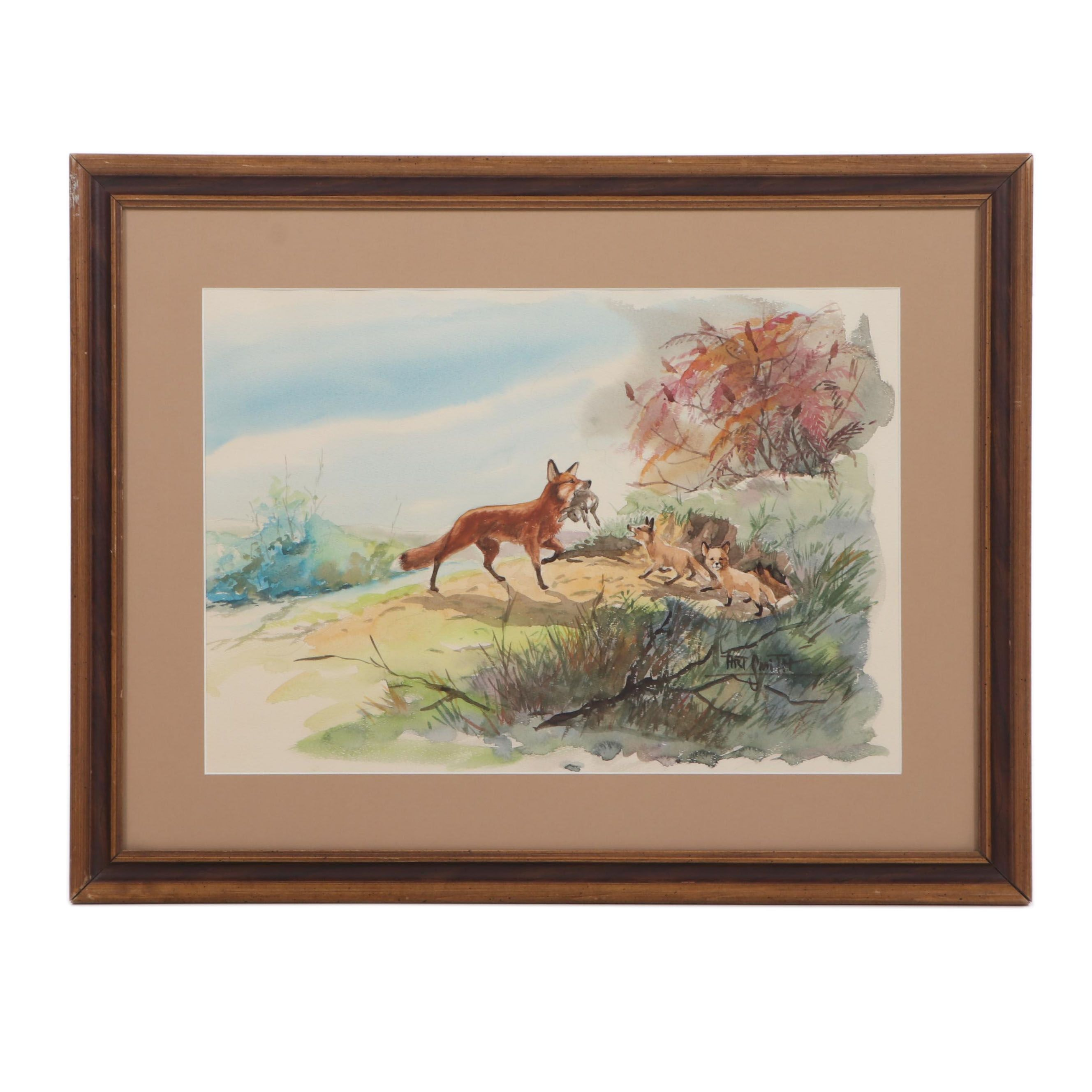 Art Smith Watercolor Painting