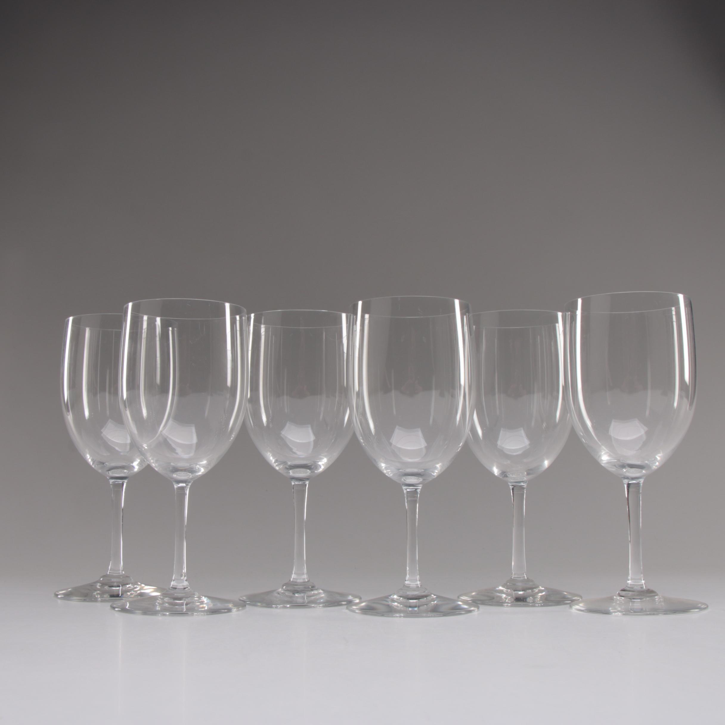 "Baccarat ""Haut Brion"" Crystal Claret Wine Glasses"