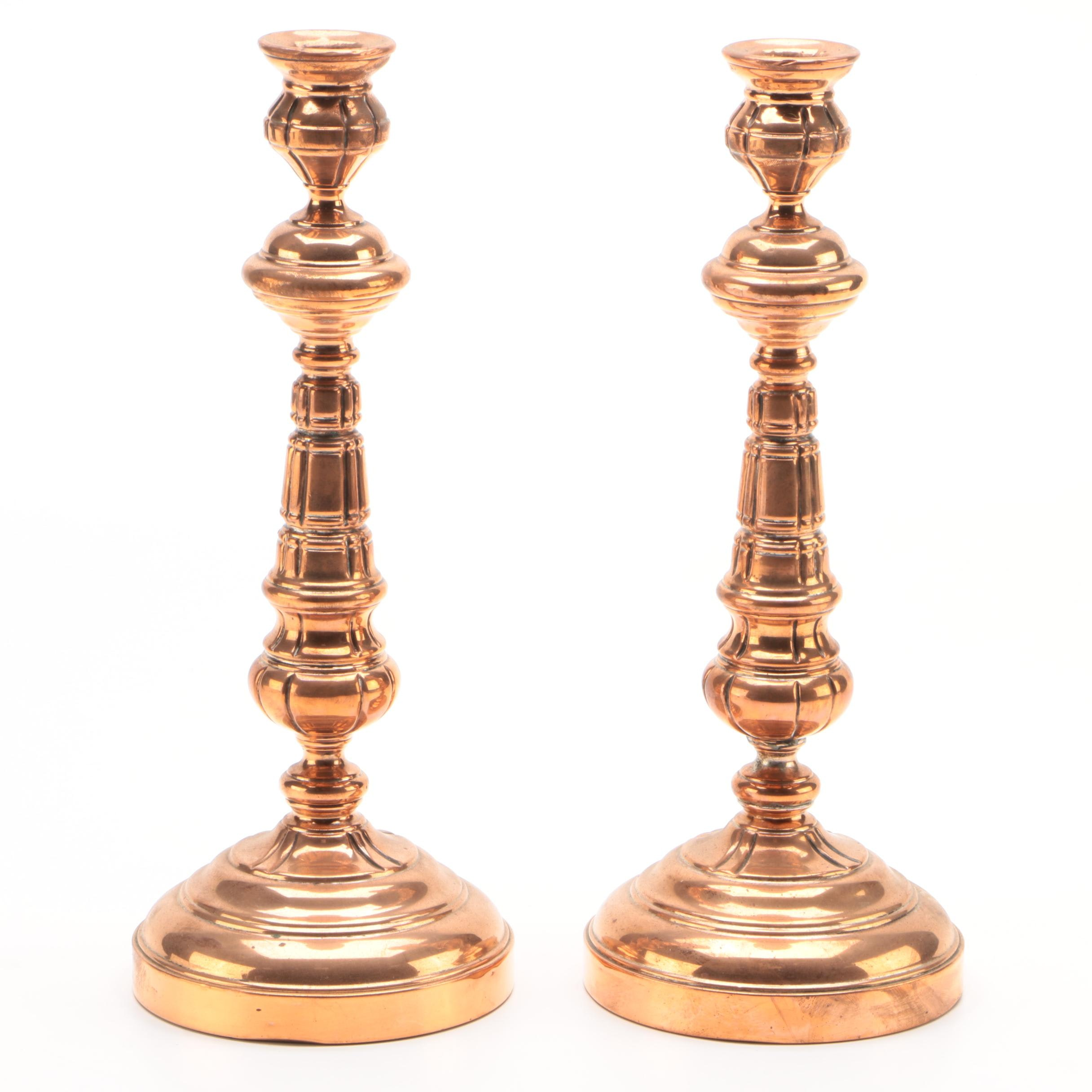 Copper Candlesticks by Double G.M.