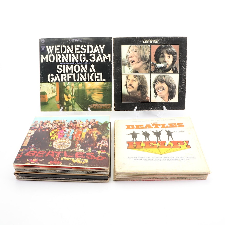 Collection of Rock and Folk Records