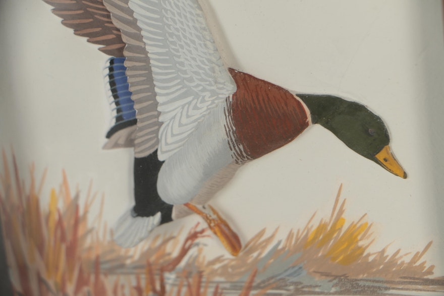 "Joseph Q. Whipple, Sr. Shadowbox Paintings ""Mallard"" And"