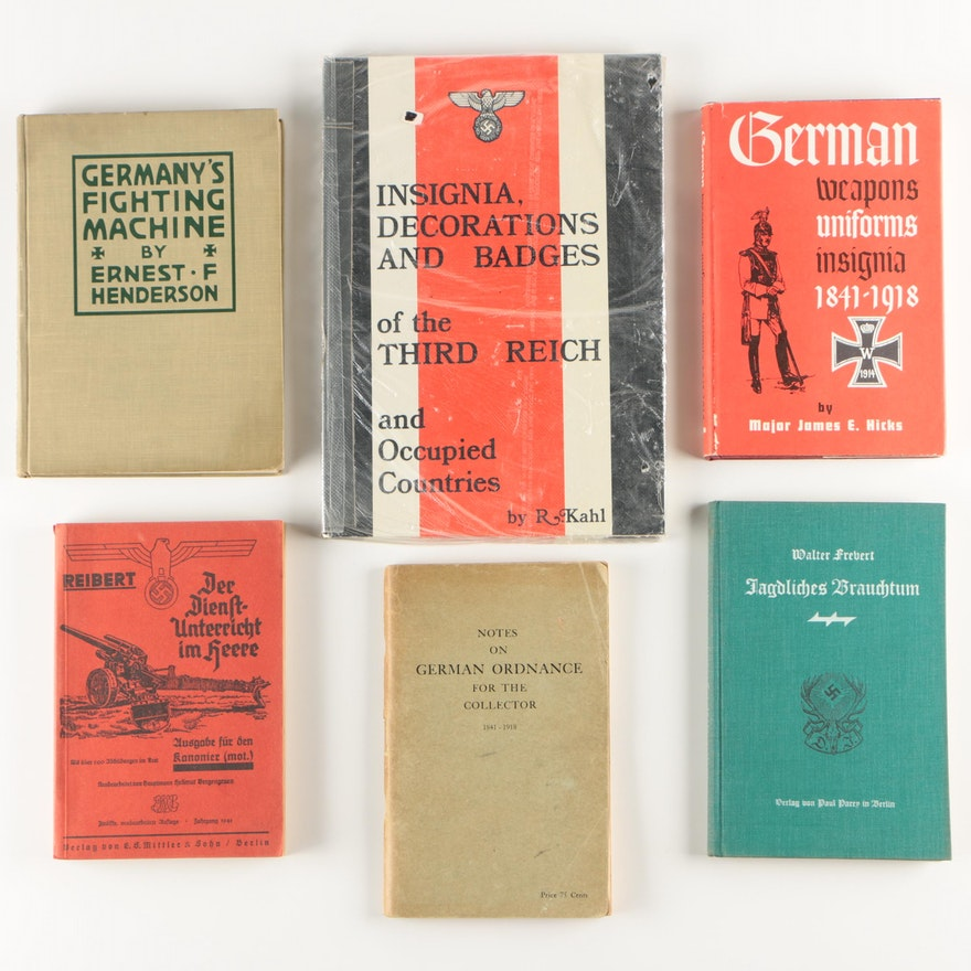 German World War I and II Era Weapons and Medals Books
