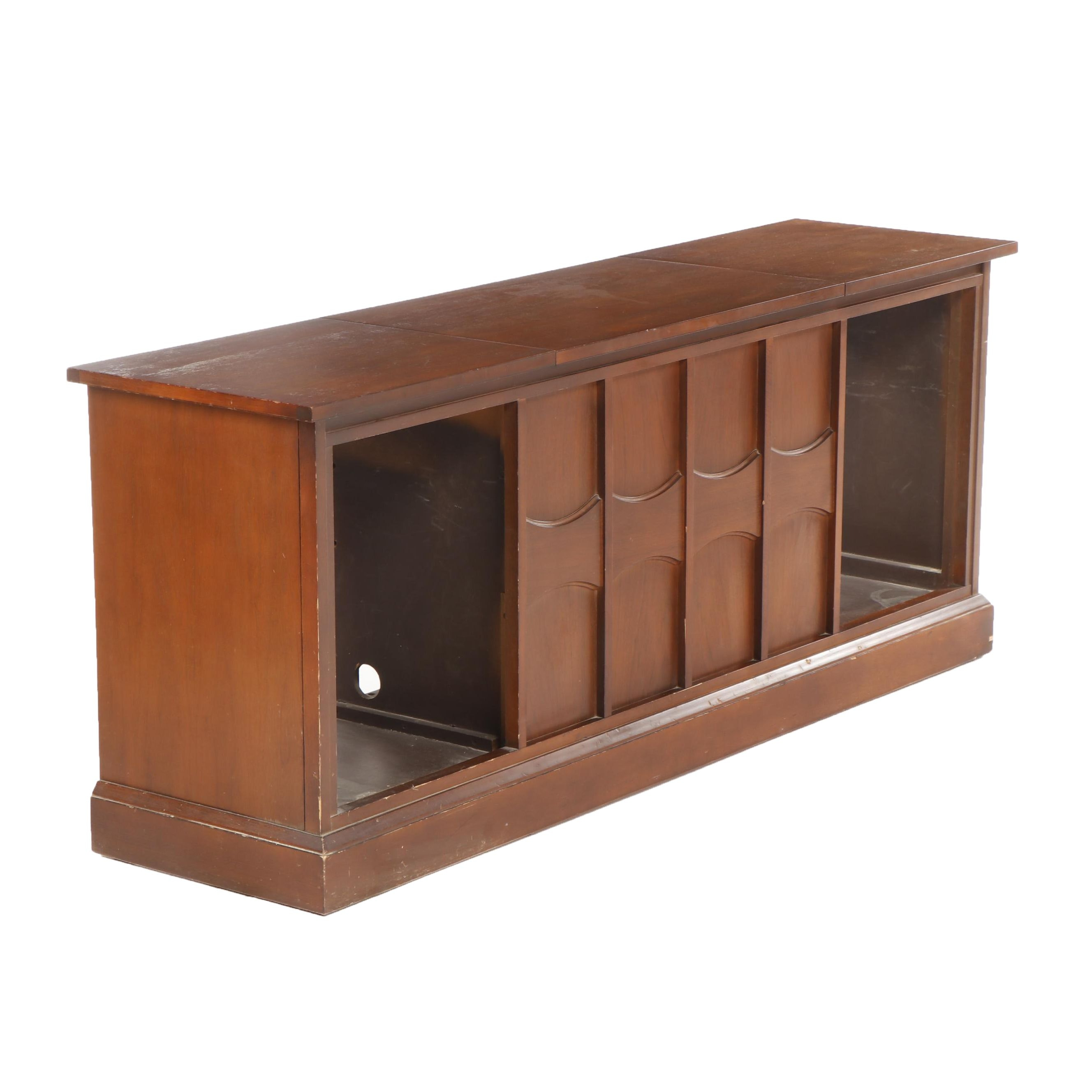Mid Century Modern Console Credenza for Record Player System