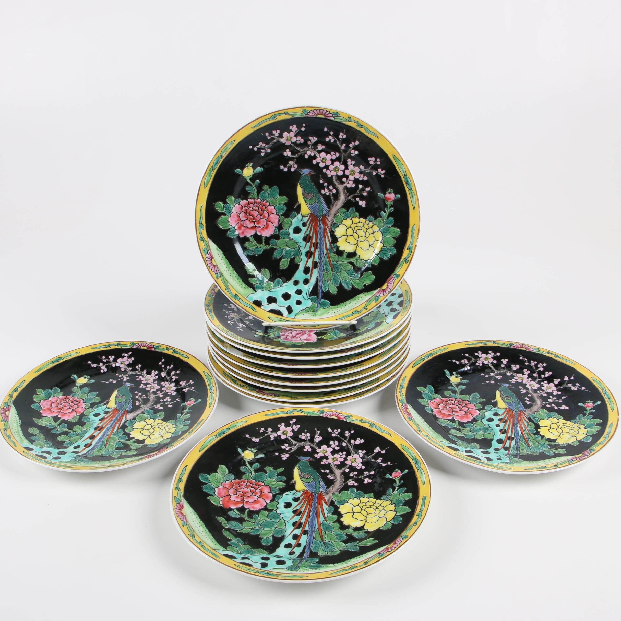 Enameled Porcelain Salad Plates
