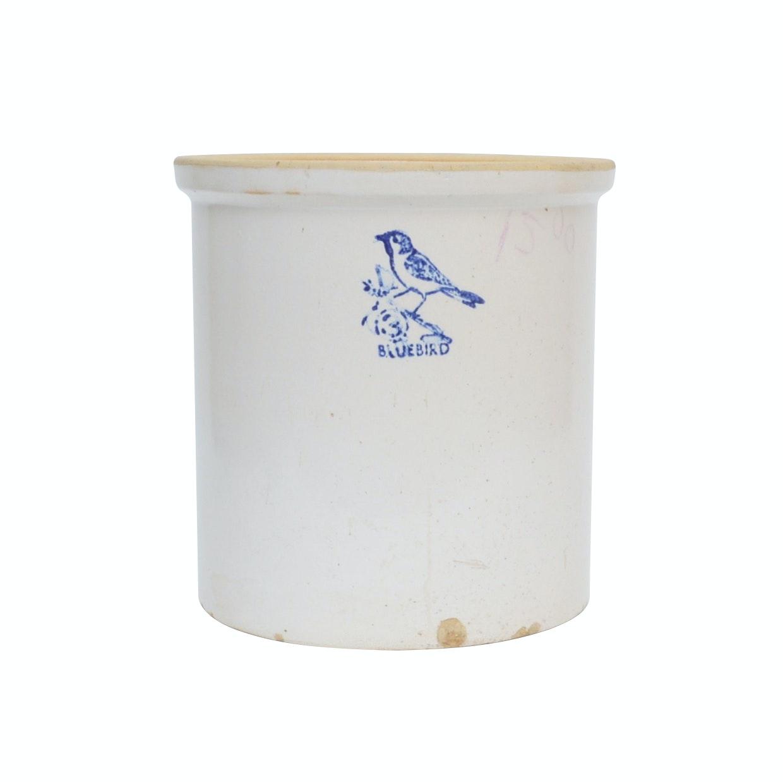 Bluebird Stoneware Crock