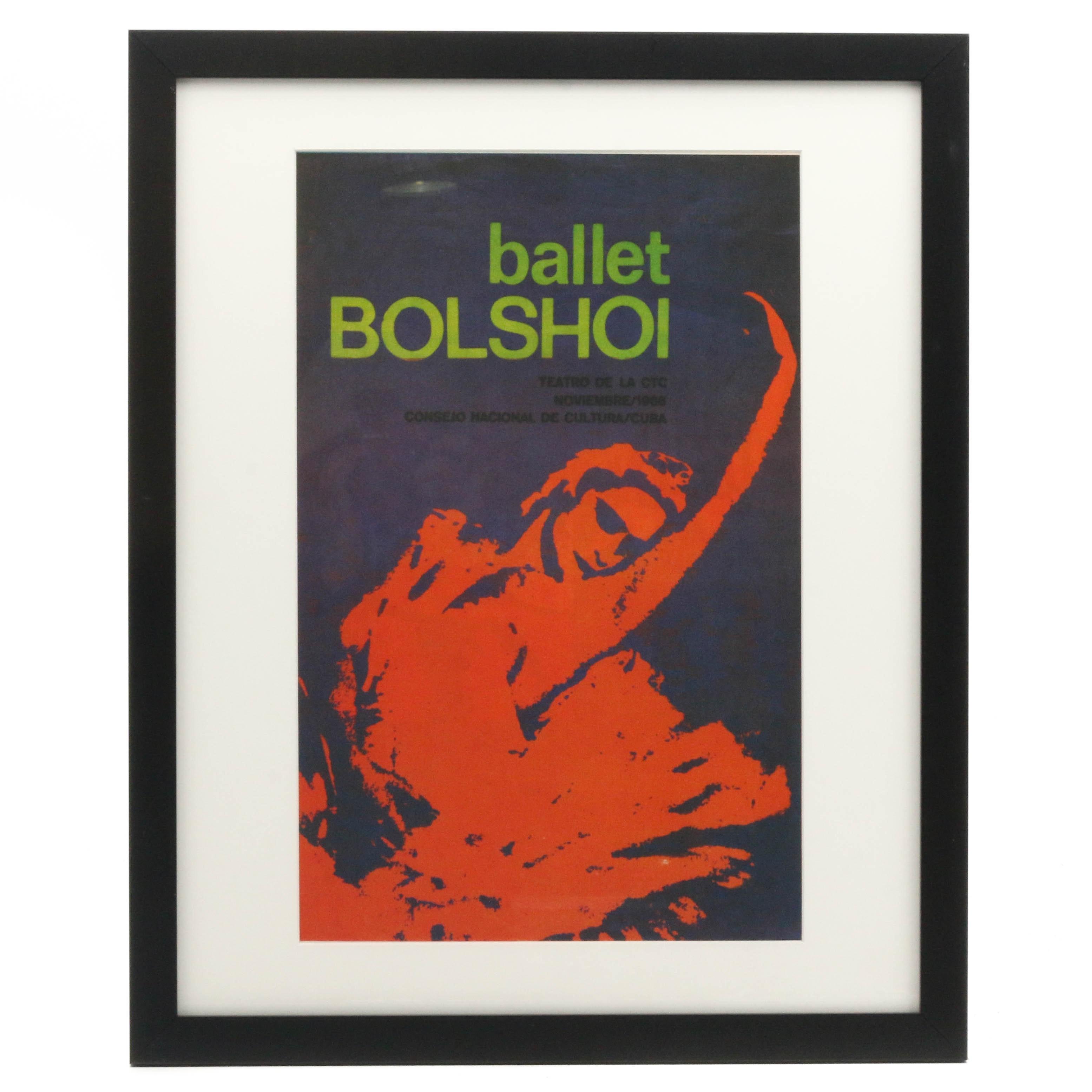 "Lithograph Poster ""Ballet Bolshoi"" from ""The Art of Revolution"""