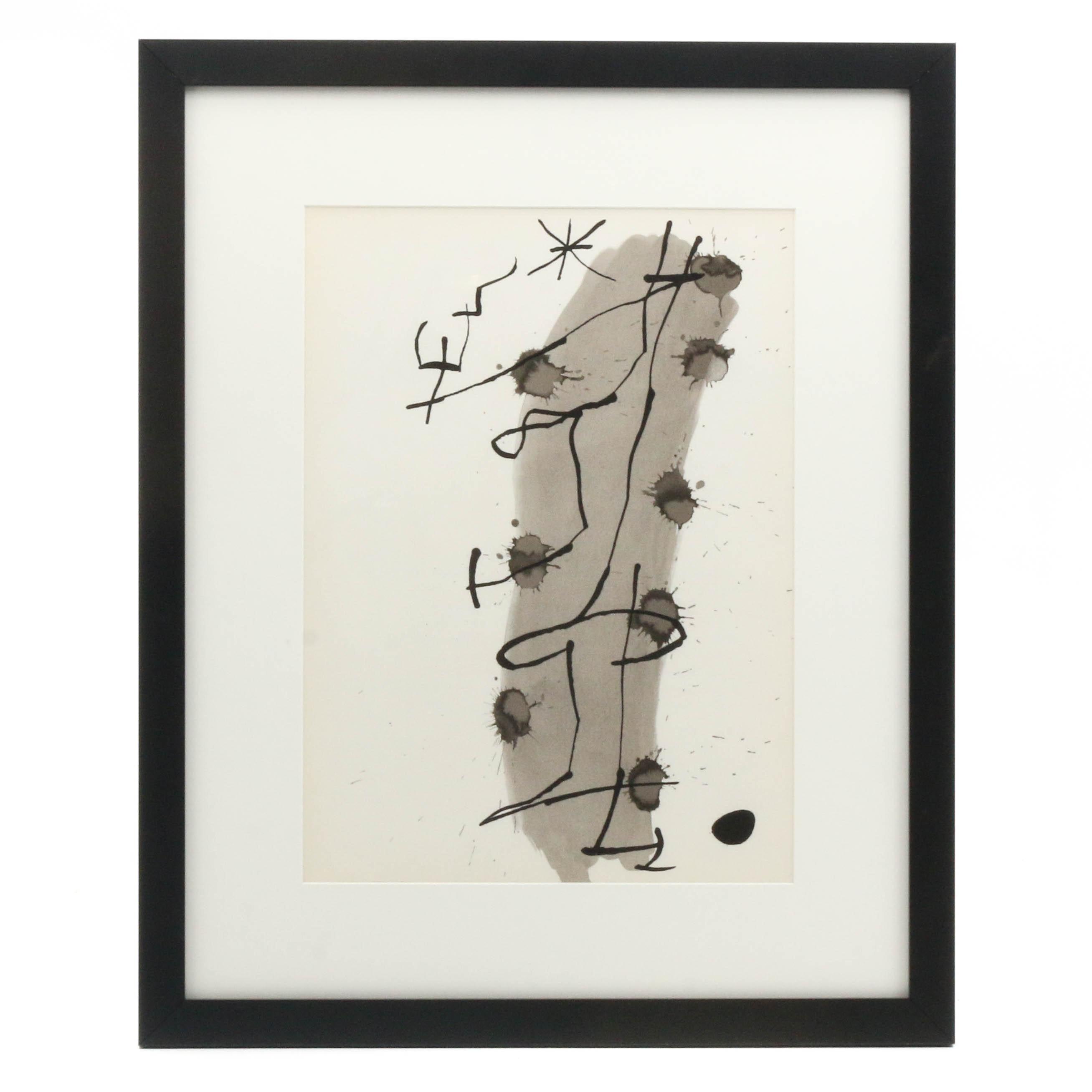 """Joan Miró Lithographic Print from """"Derrière le Miroir"""""""
