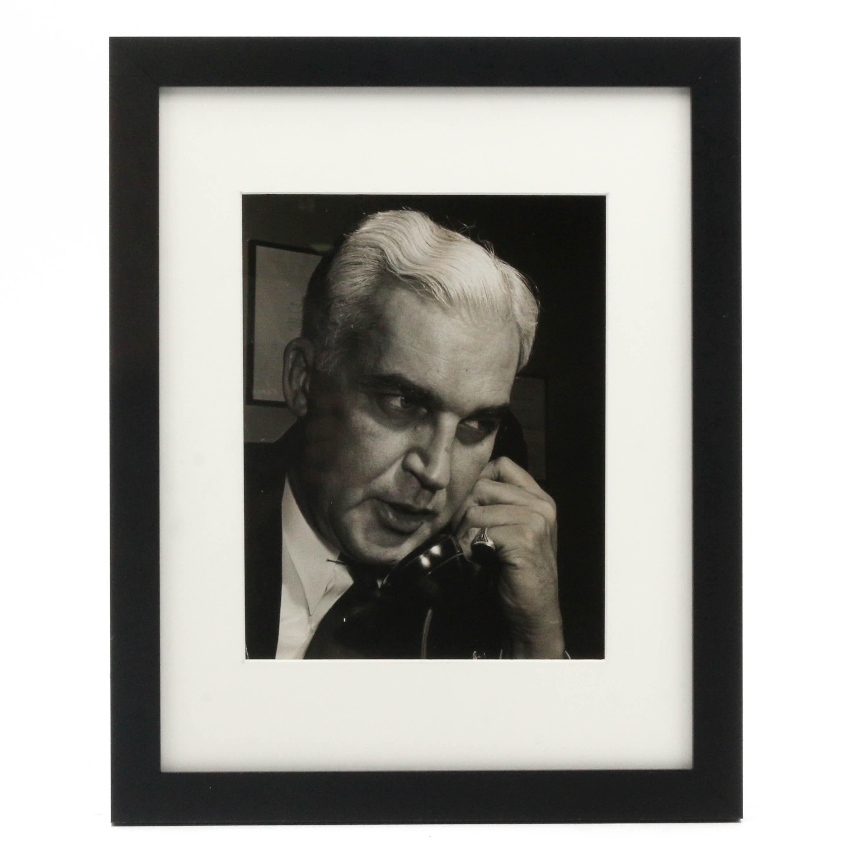William Eugene Smith Silver Gelatin Photograph of Paul V. McNutt