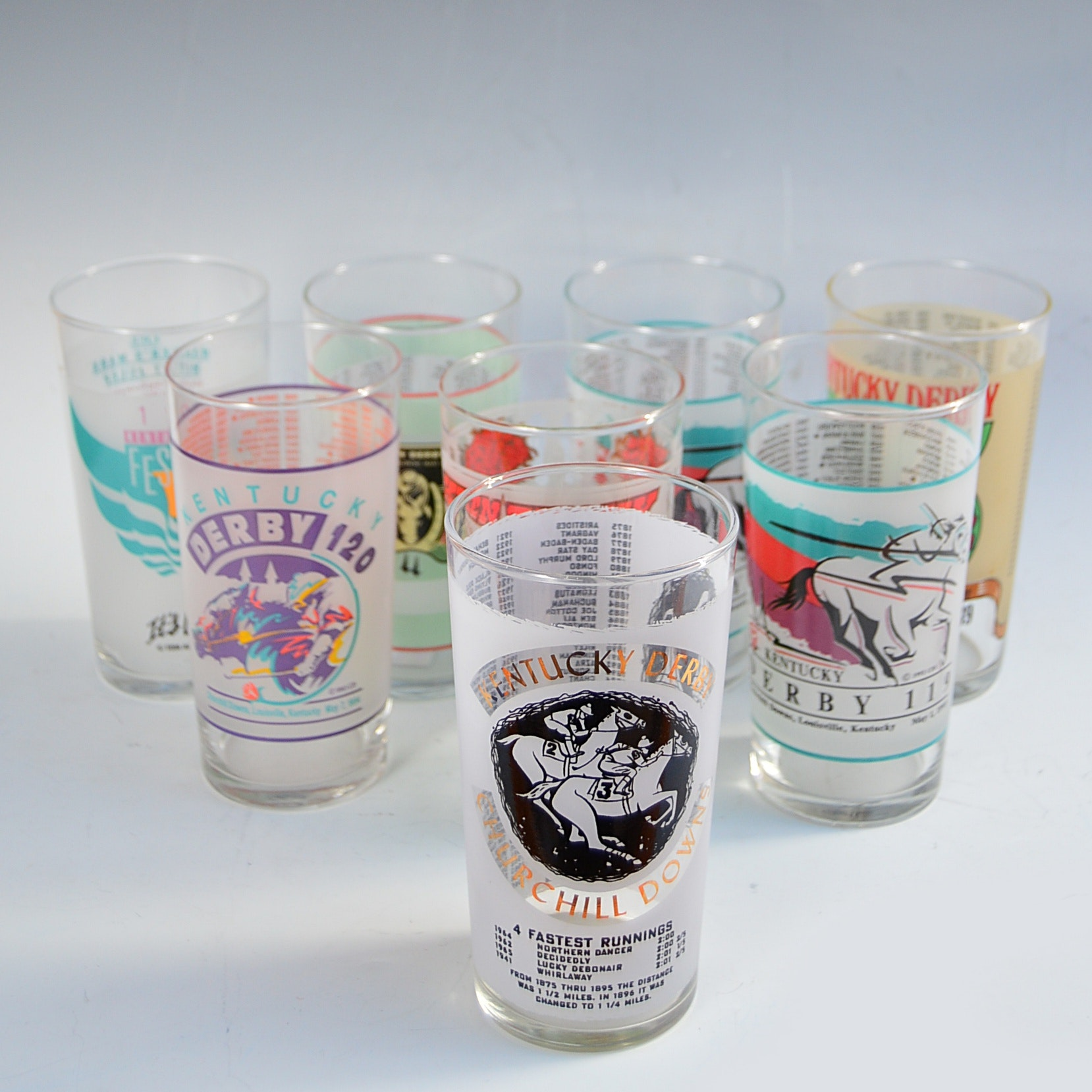 Vintage Kentucky Derby Glasses