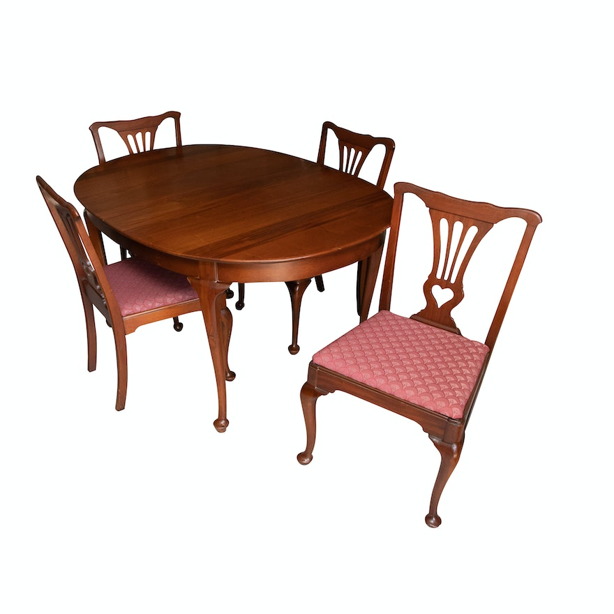 Fabulous Queen Anne Style Dining Table And Chairs Download Free Architecture Designs Scobabritishbridgeorg