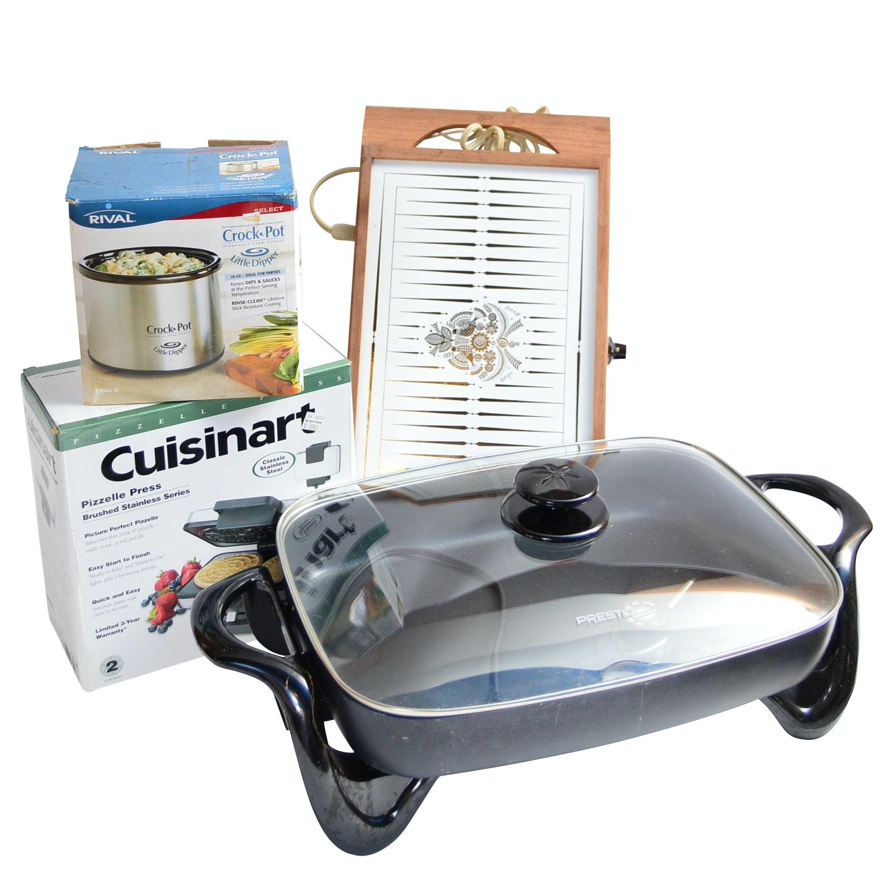 Kitchen Appliances with Presto Skillet, Crock-Pot, Cuisinart and Briard Warmer