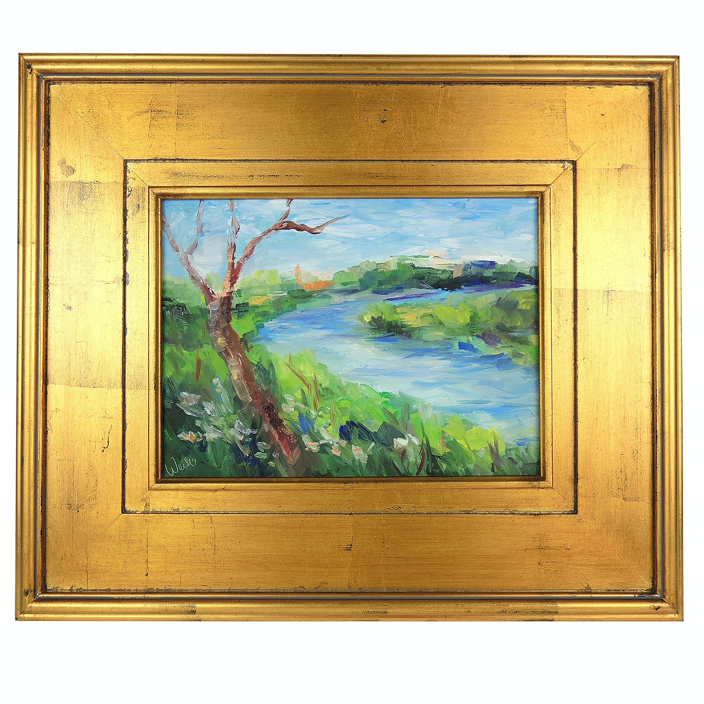 """Trish Weeks Oil Painting """"Riverview"""""""