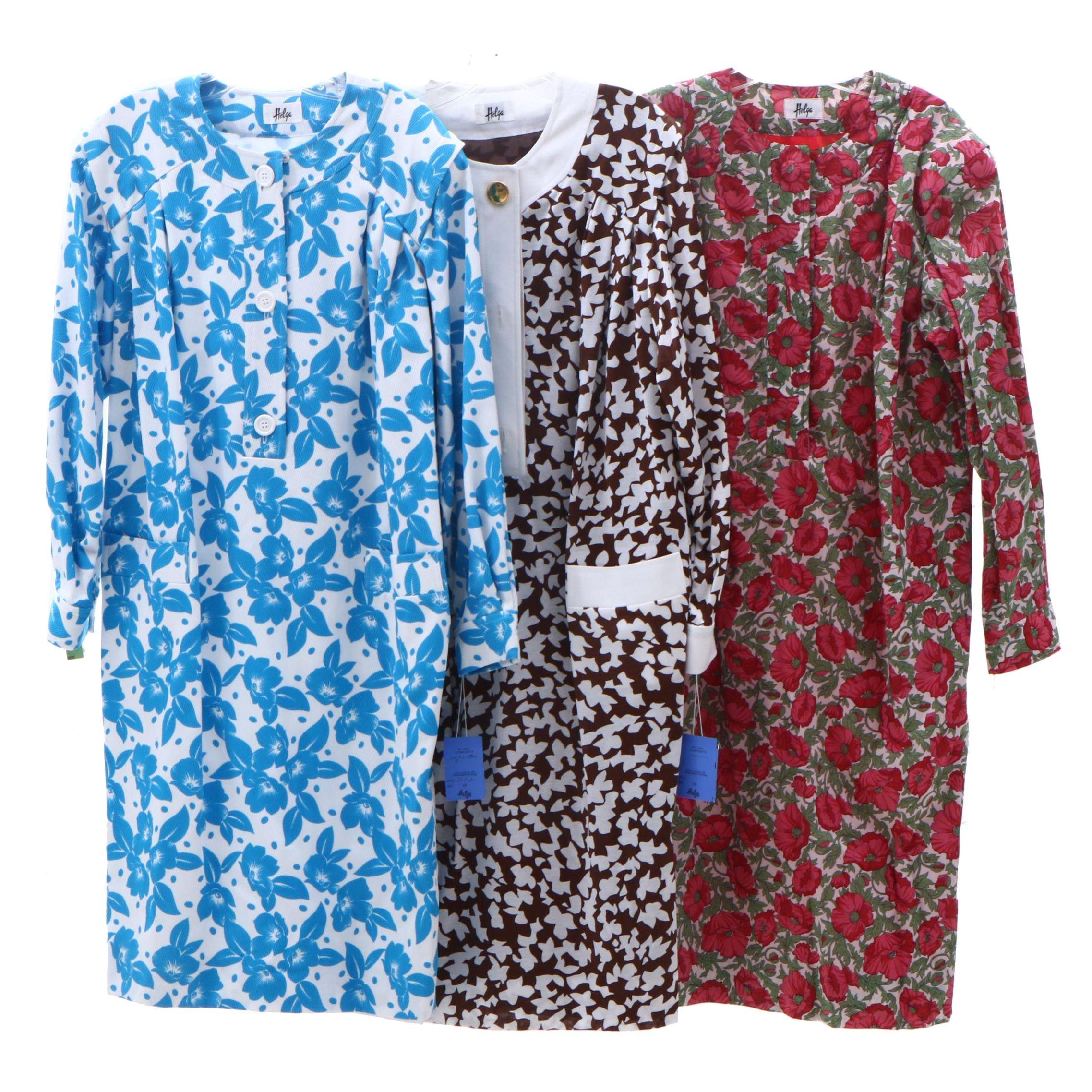 Helga Long Sleeve Cotton Dresses