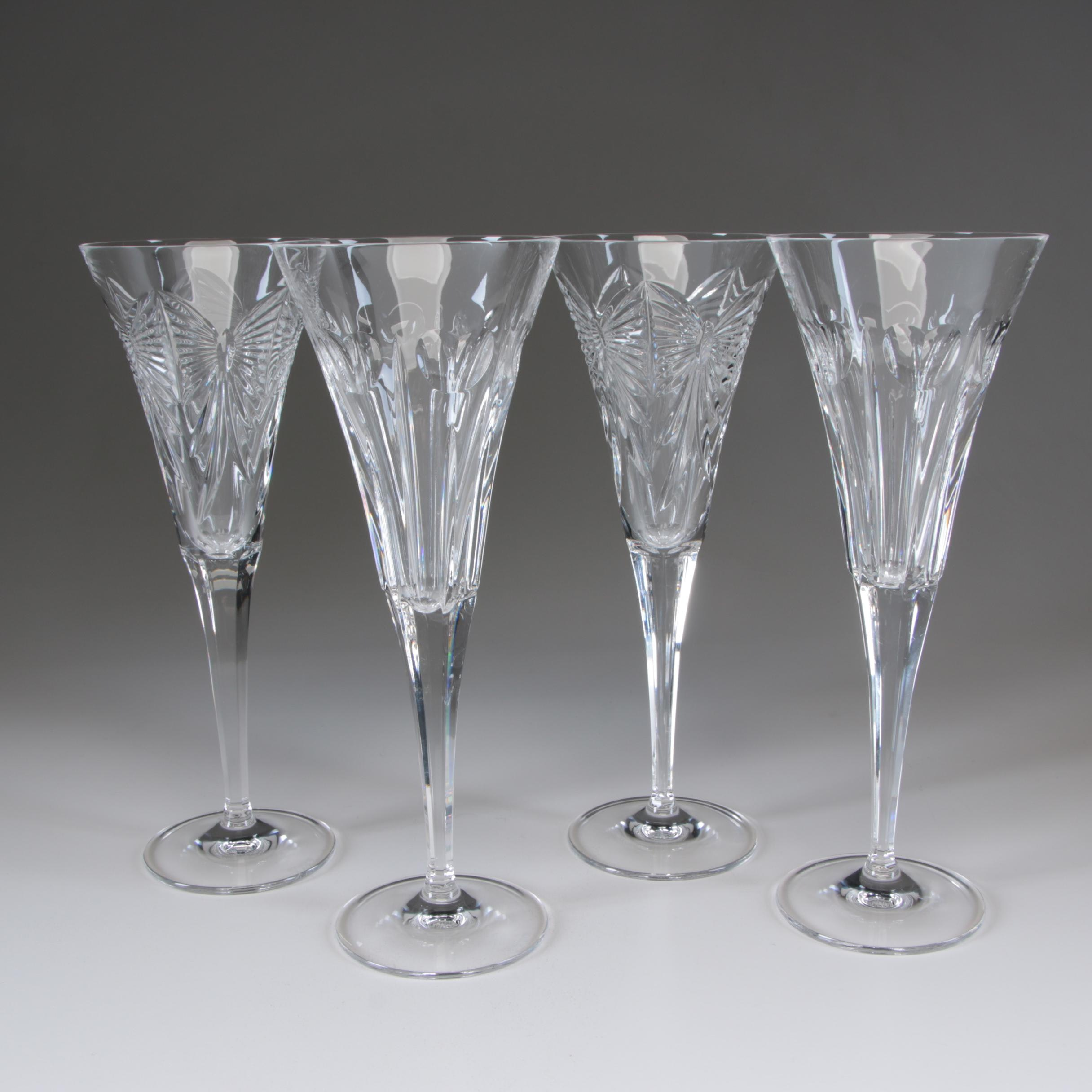 "Waterford Crystal ""Millennium Series"" Champagne Toasting Flutes"
