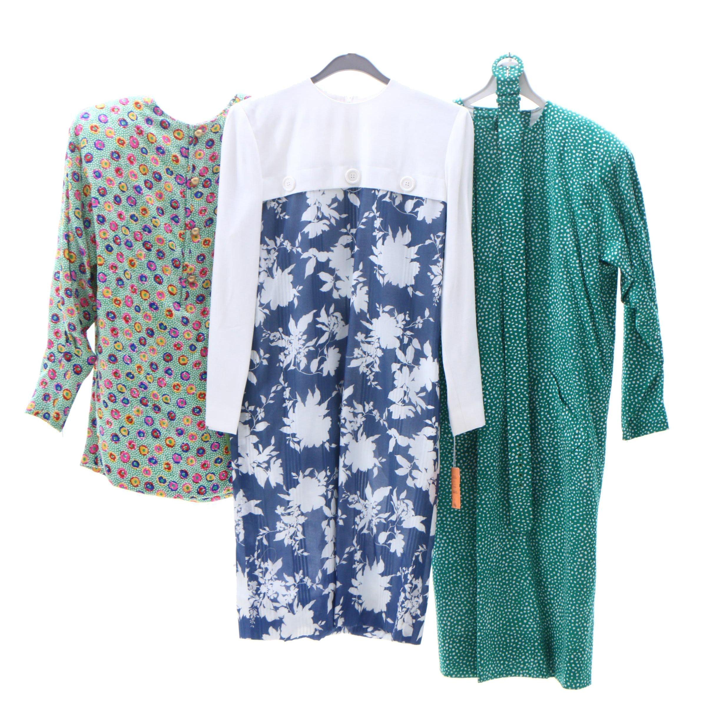 Helga Cotton Blend Dresses and Silk Blouse
