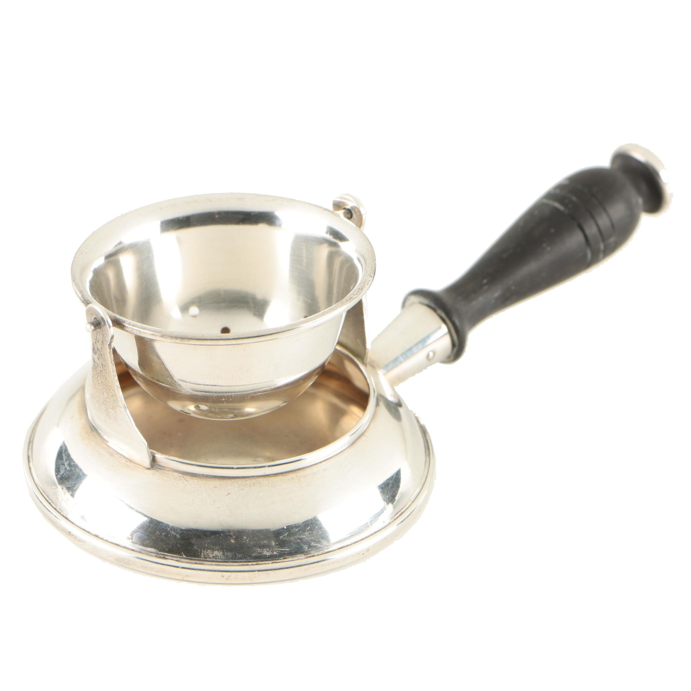 Ellmore Sterling Silver Loose Leaf Tea Strainer with Stand, 1935-1960