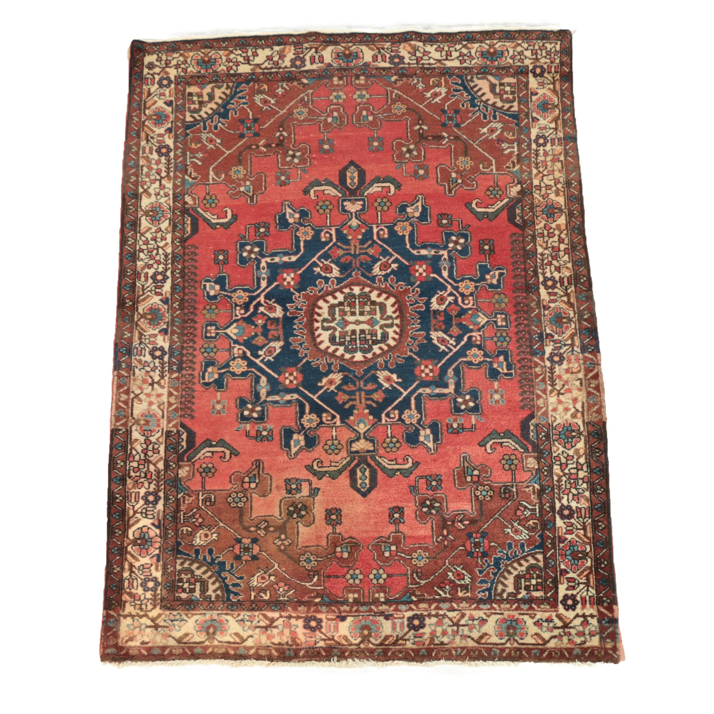 Hand-Knotted Persian Tafresh Wool Area Rug