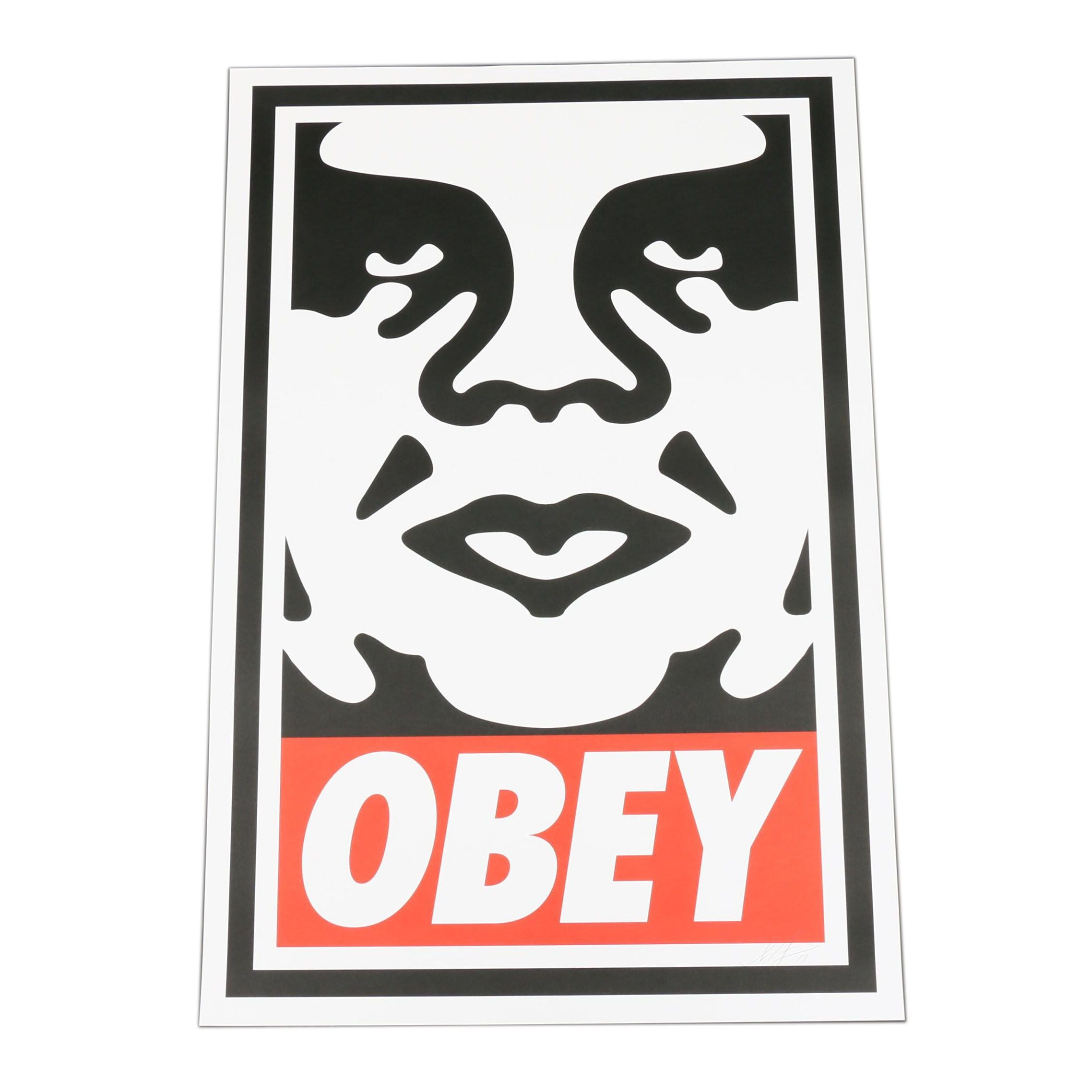 "Shepard Fairey Offset Print ""Obey Face"""