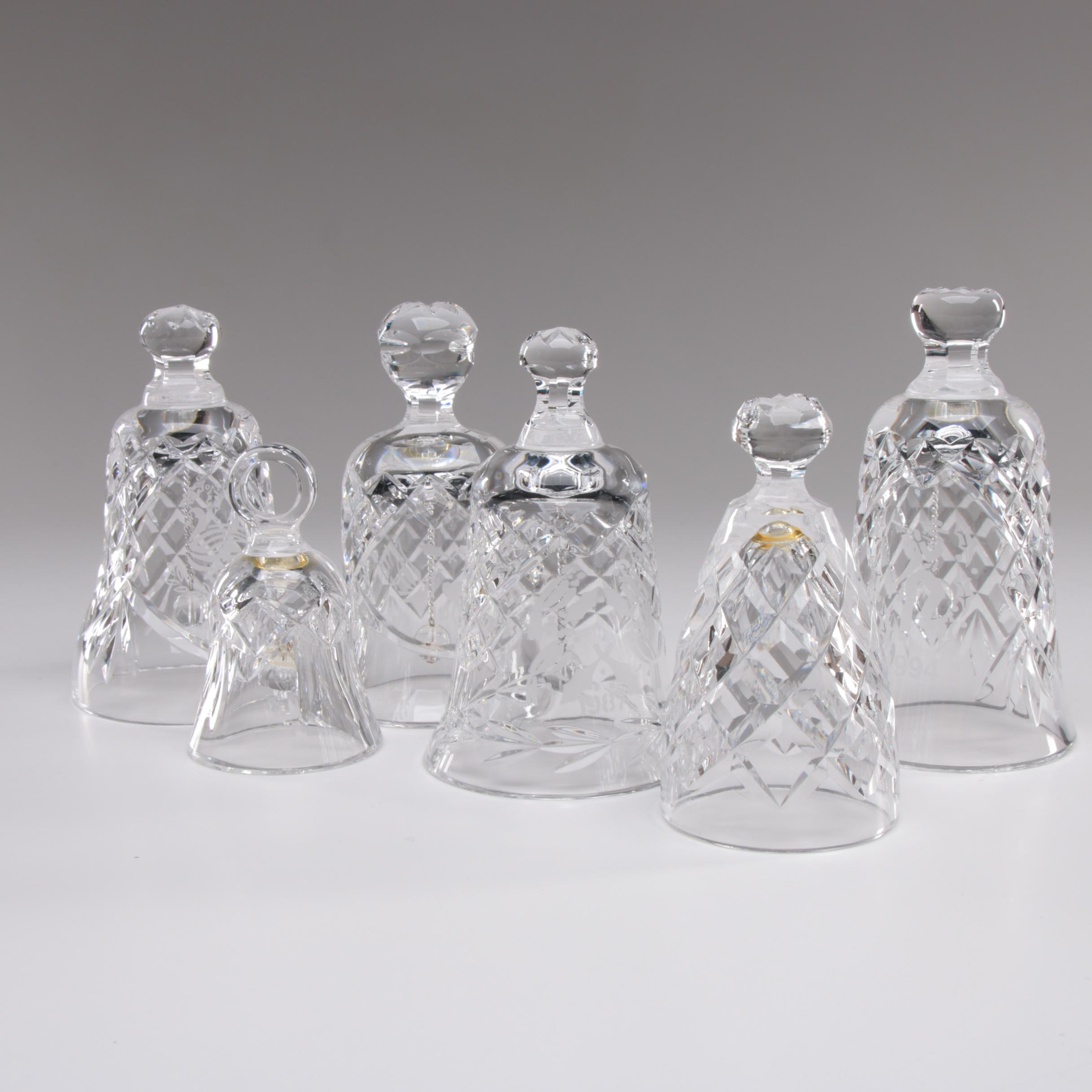 "Waterford Crystal Bells including ""12 Days of Christmas"" Series"