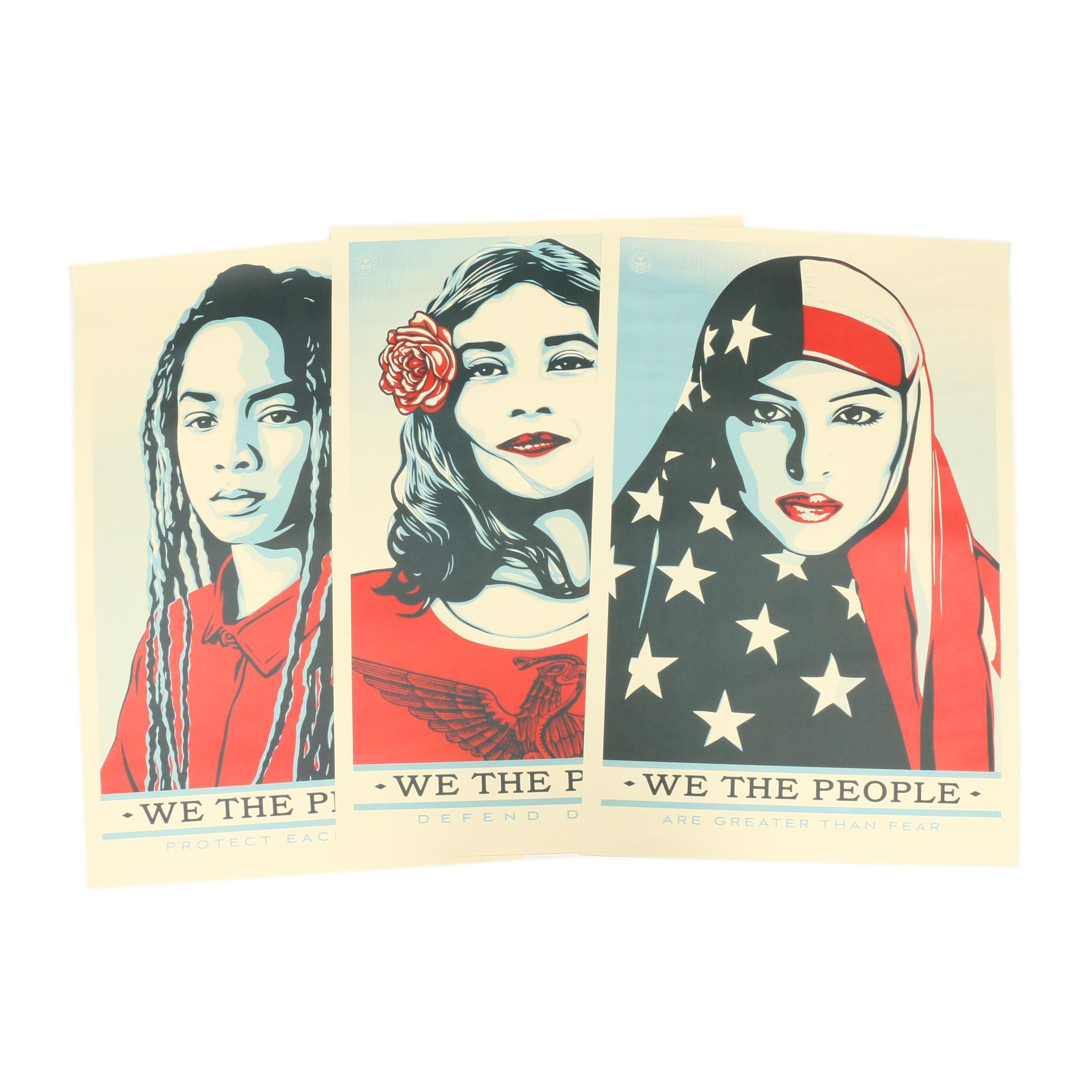 """Shepard Fairey Offset Prints on Paper """"We the People"""""""