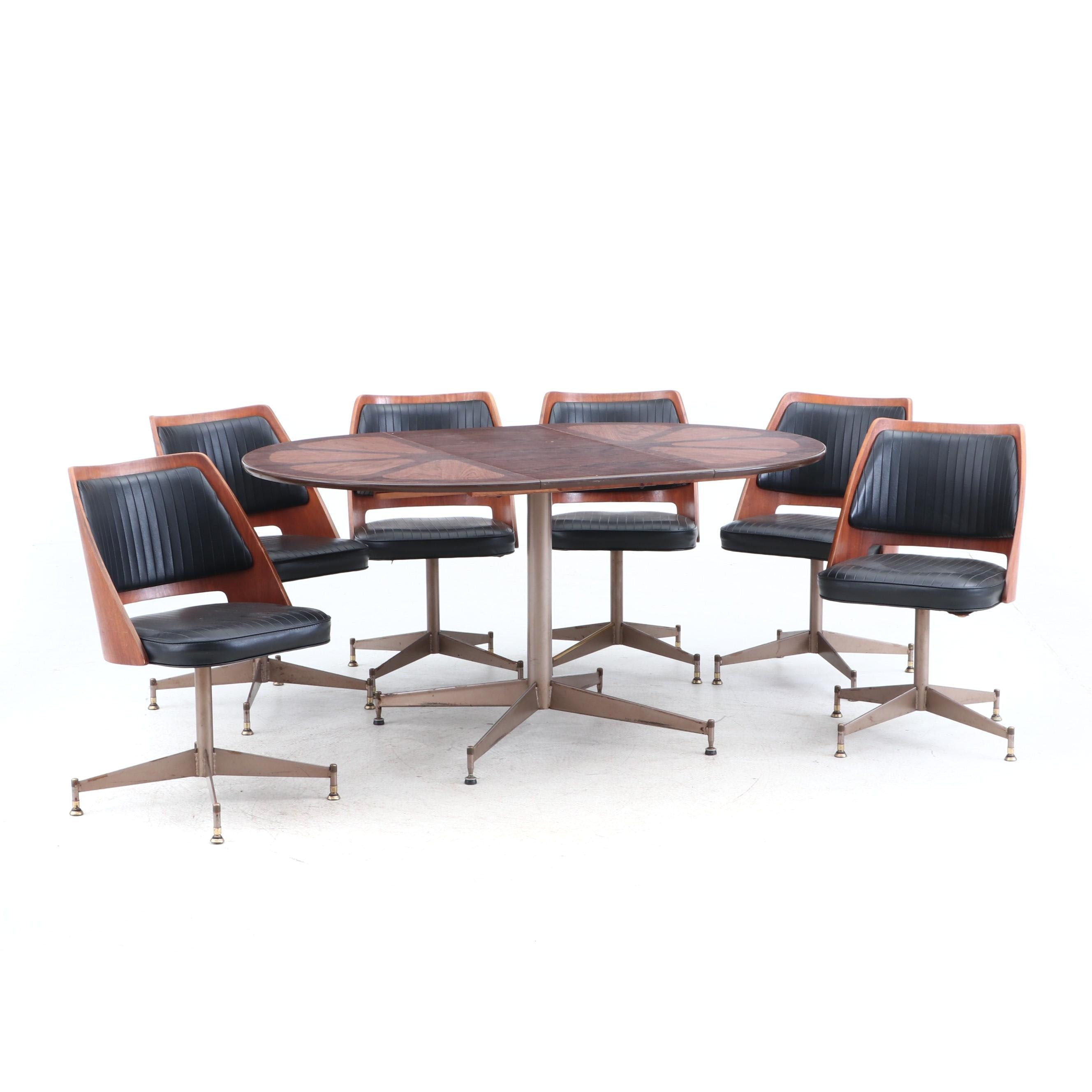 Mid Century Modern Dining Set by B. Brody Seating Co.
