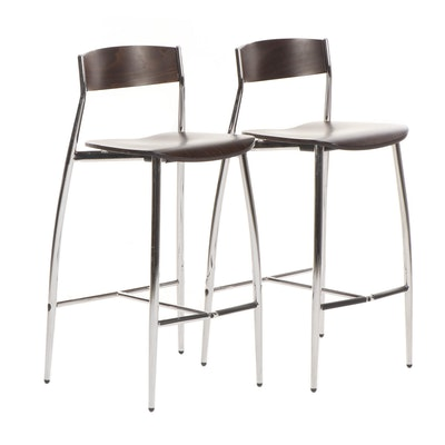 Enjoyable Contemporary Pub Table And Counter Height Upholstered Stools Theyellowbook Wood Chair Design Ideas Theyellowbookinfo