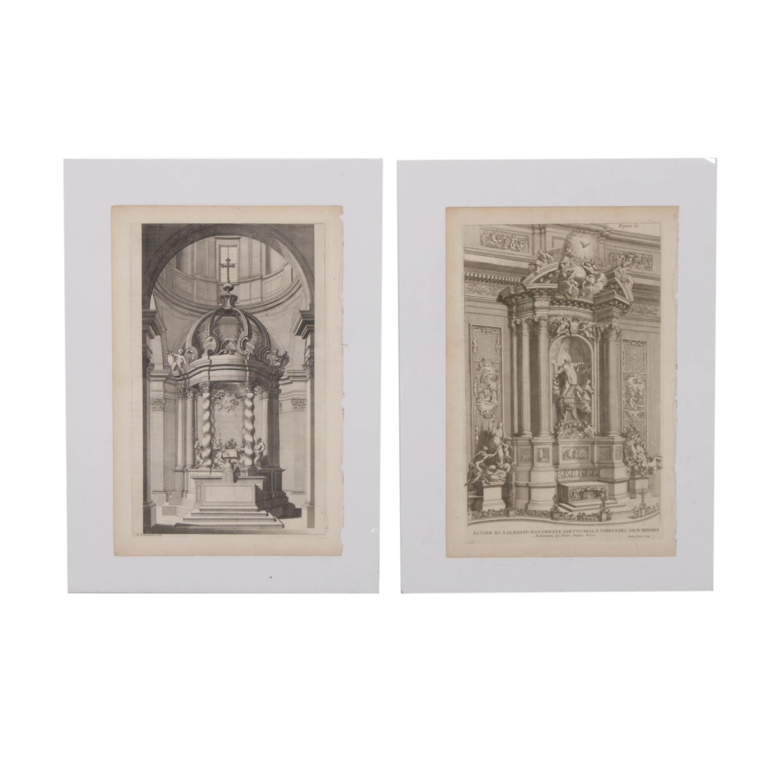 Etchings after Giovanni Girolamo Frezza and Domenico Mariano Franceschini