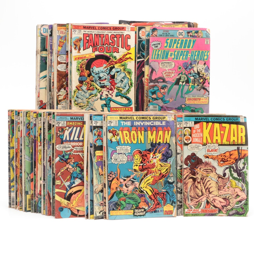 """Marvel and DC Bronze Age Comic Books Including """"The Amazing Spider-Man"""""""