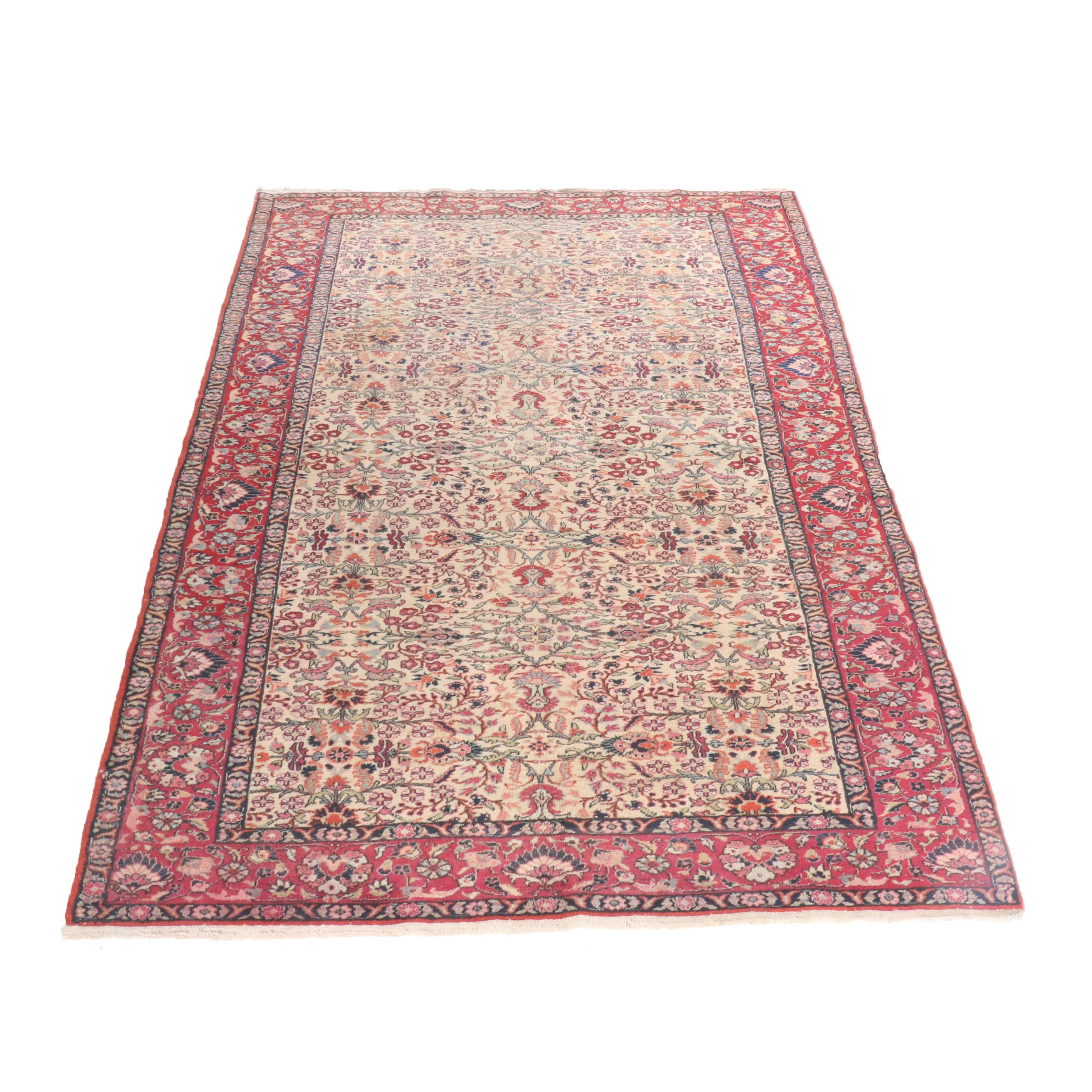 Hand-Knotted Turkish Keysari Wool Rug