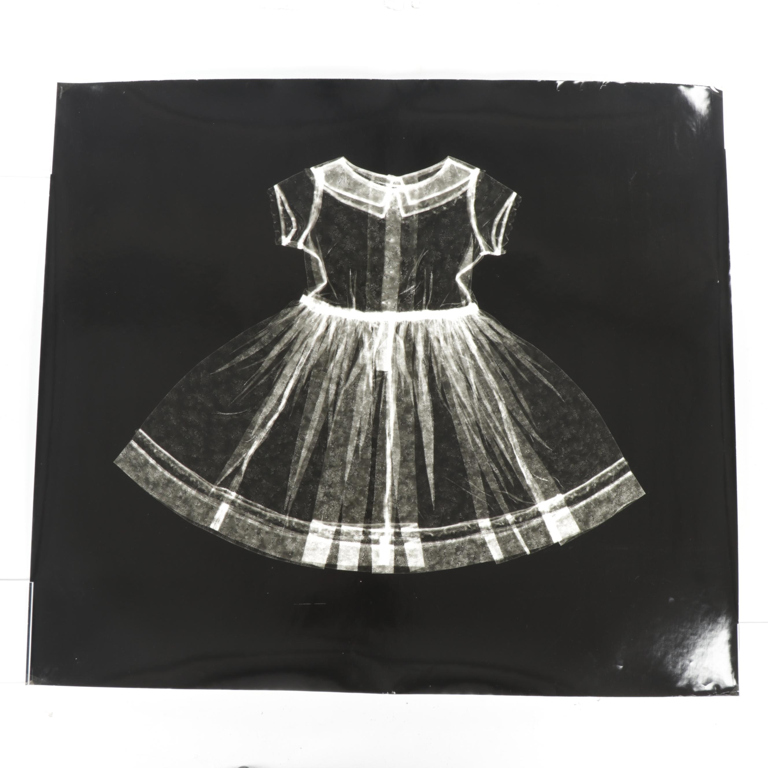 Karen Savage Life-Size Photogram of a Child's Dress