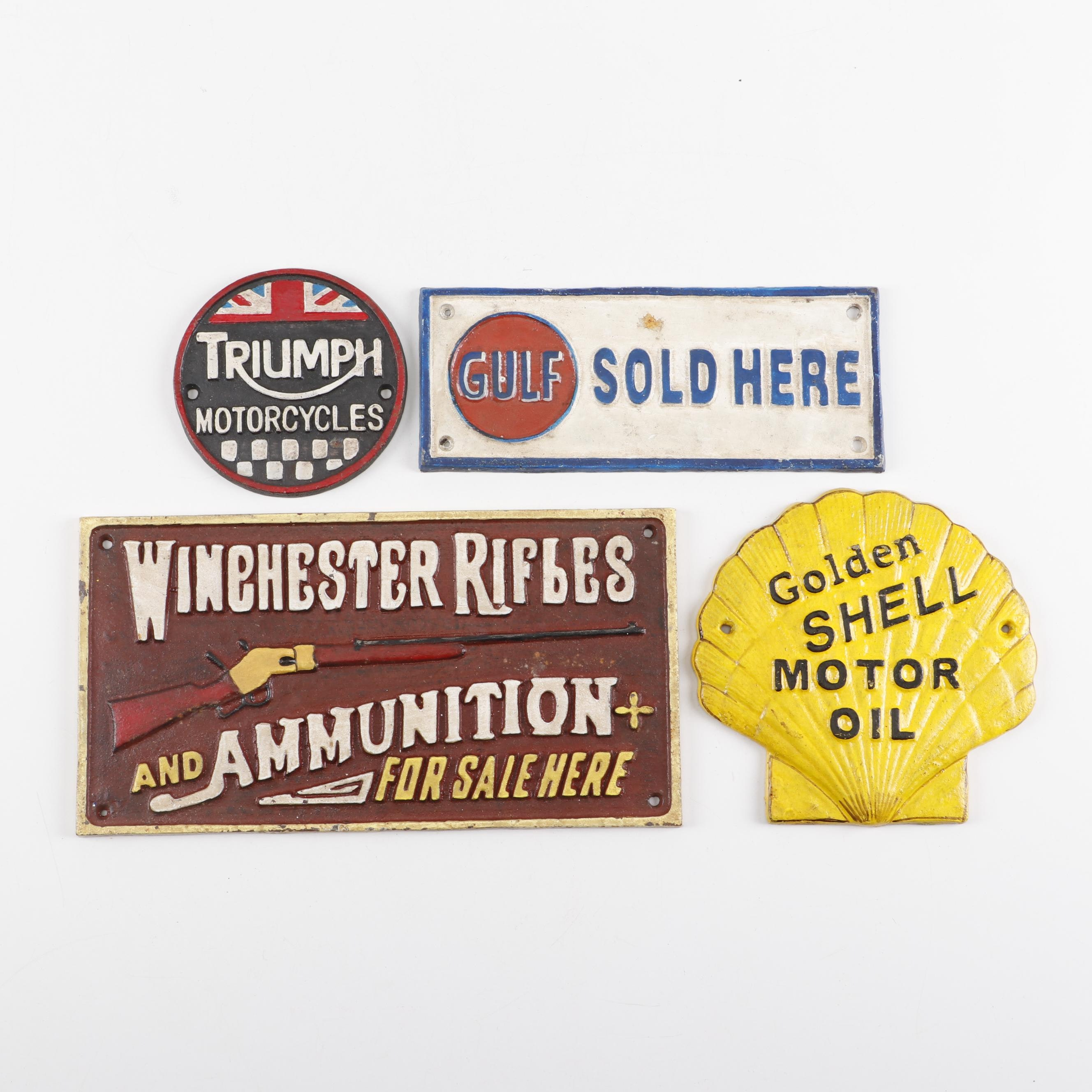 Cast Iron Reproduction Advertising Signs