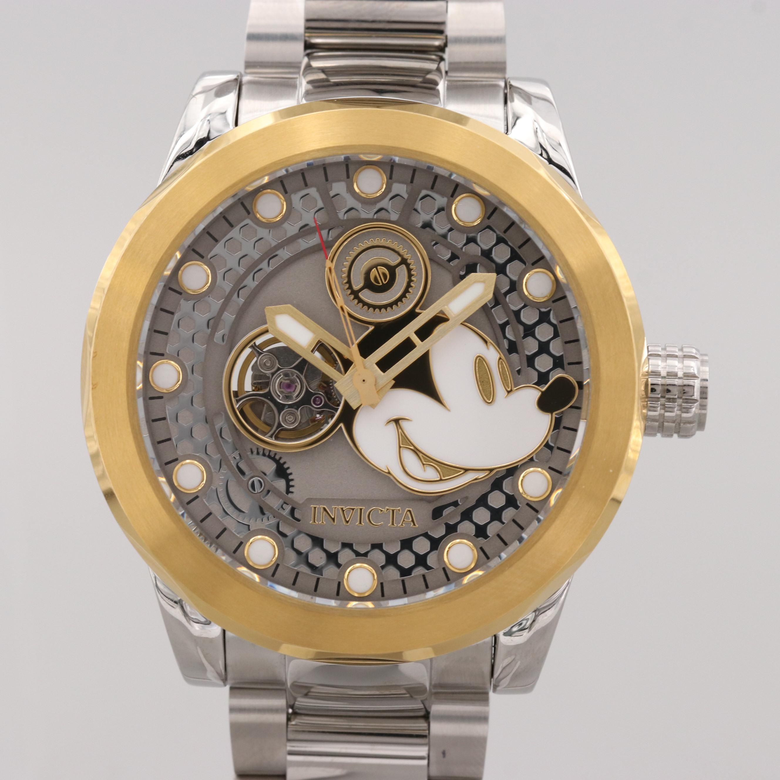 Invicta Disney's Mickey Mouse Stainless Steel Wristwatch With Case