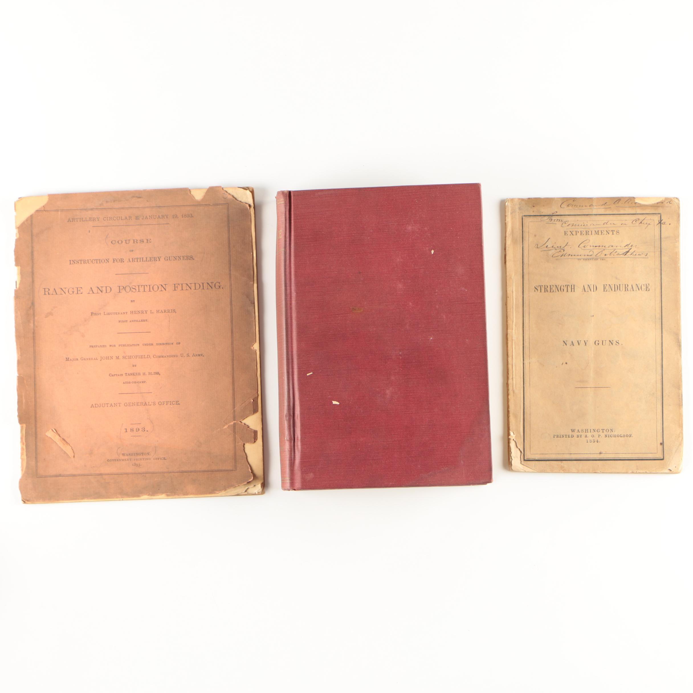 "Military Ordnance Books featuring 1939 ""Naval Ordnance: A Textbook"""