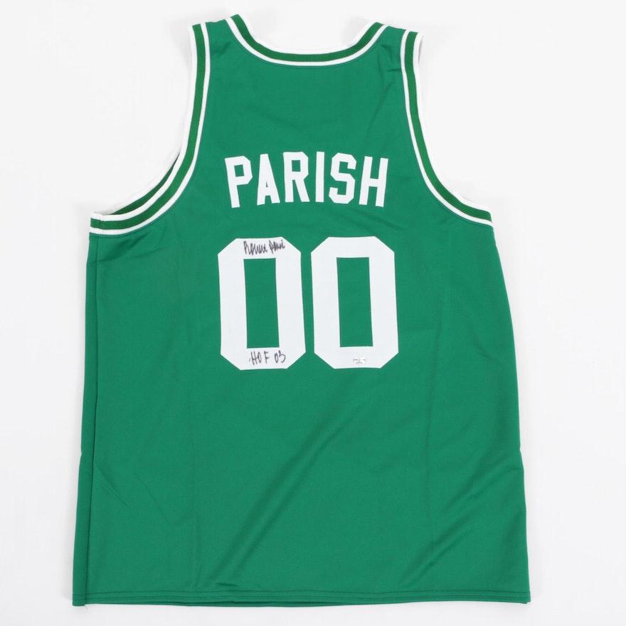 new style 66c58 d67f4 Robert Parish Signed Boston Celtics Replica Jersey COA