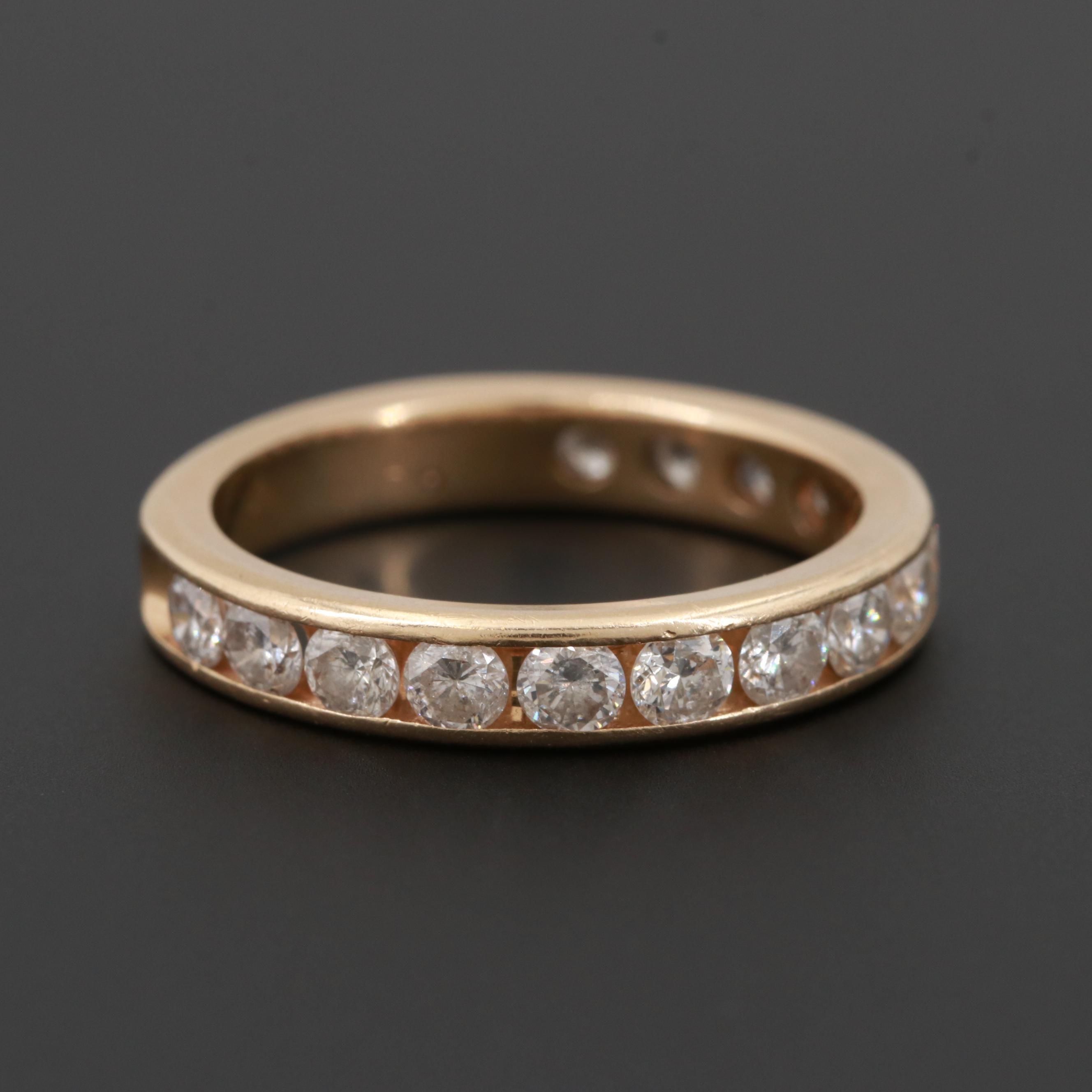 14K Yellow Gold 1.42 CTW Diamond Ring