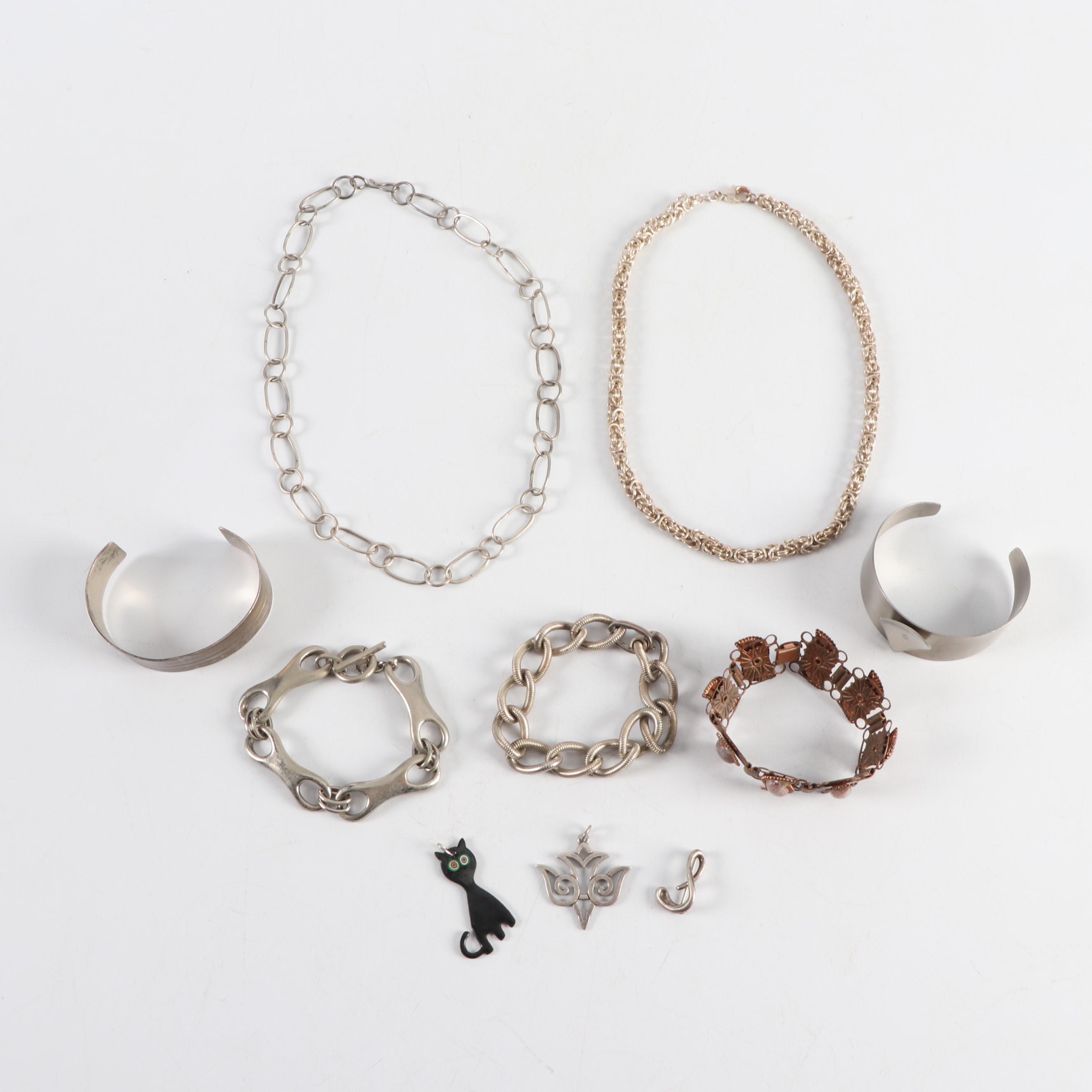 Avery Sterling Pendant, Grosse Sterling Bracelet, and More