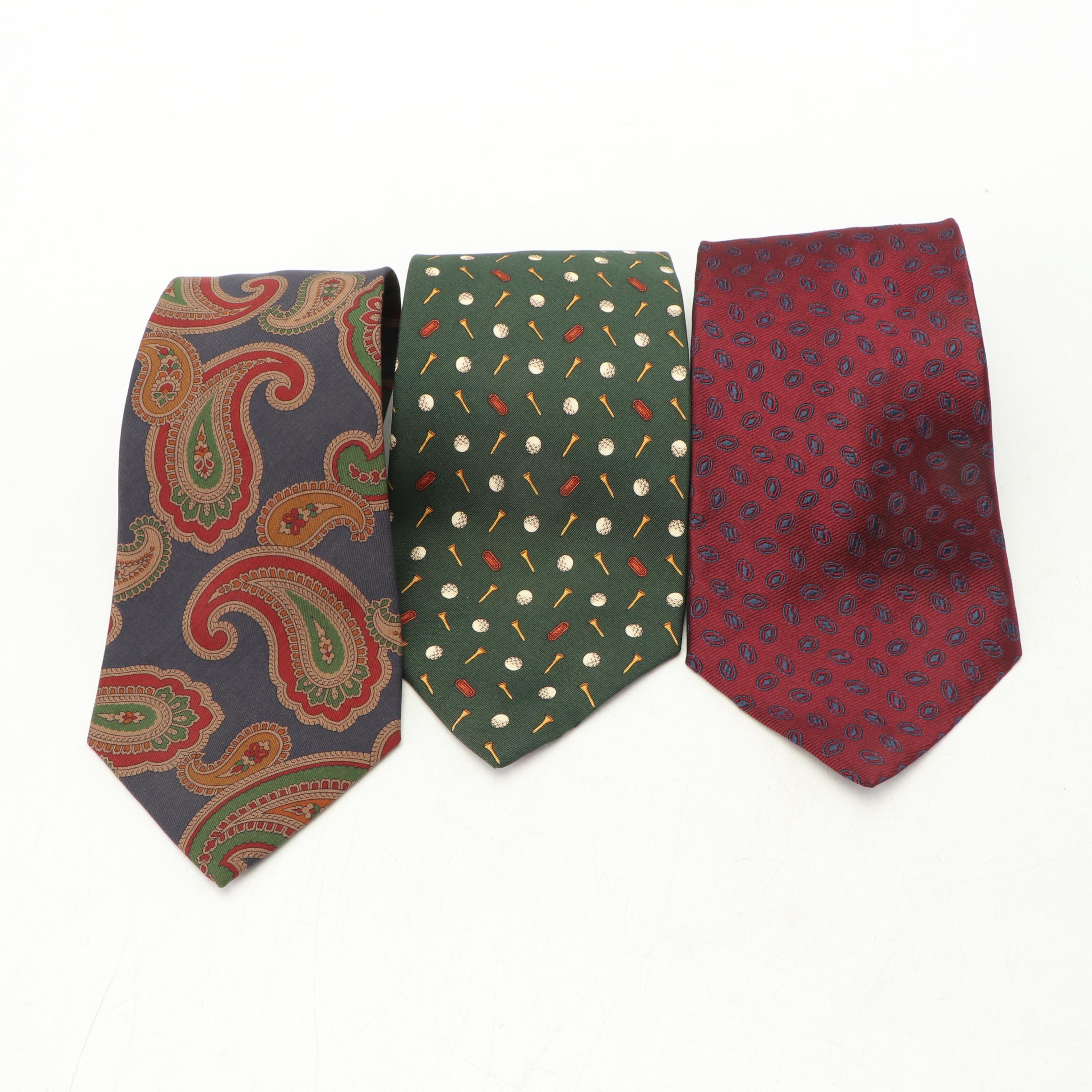 Coach and Karl Lagerfeld Silk Neckties