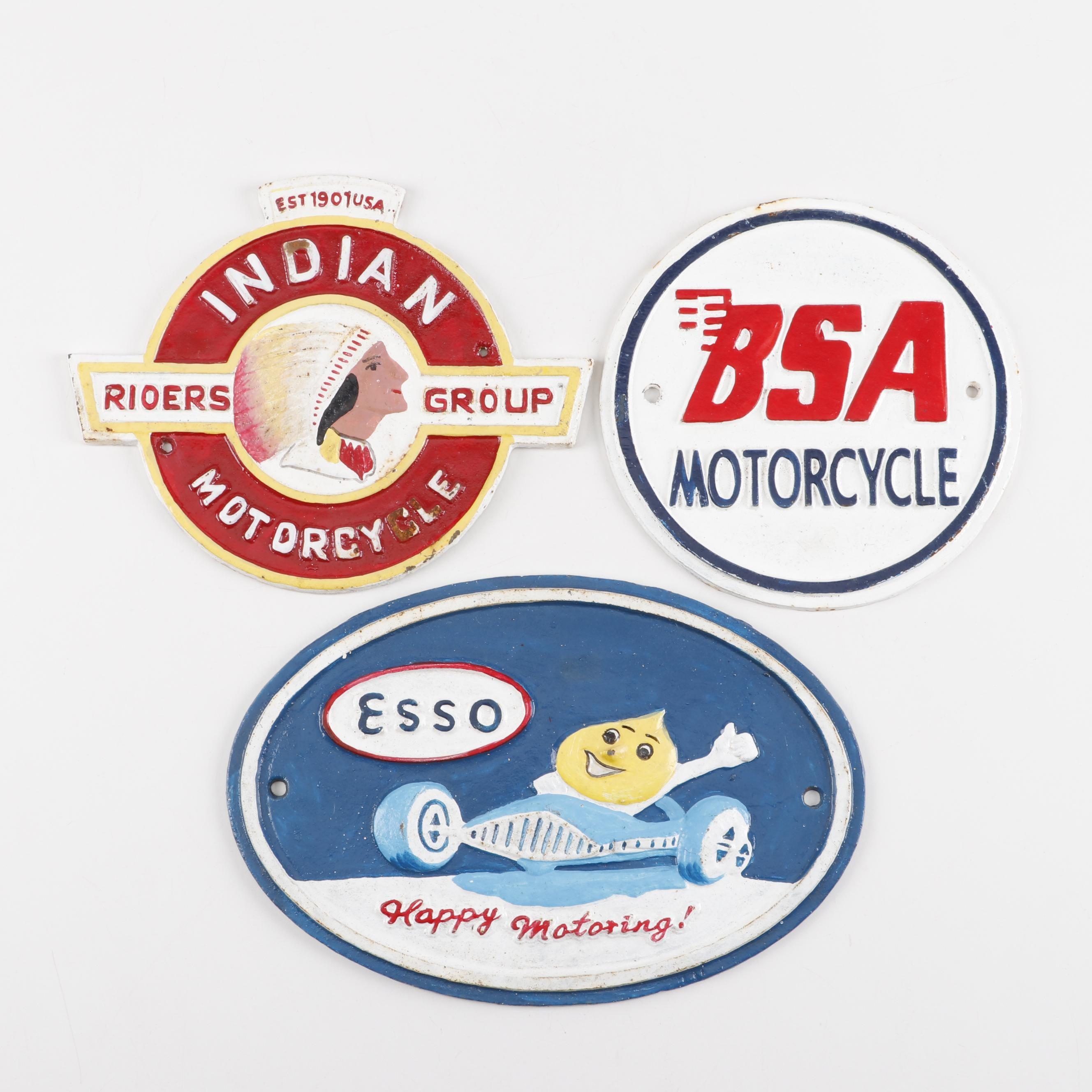 Reproduction Cast Iron Automotive Signs