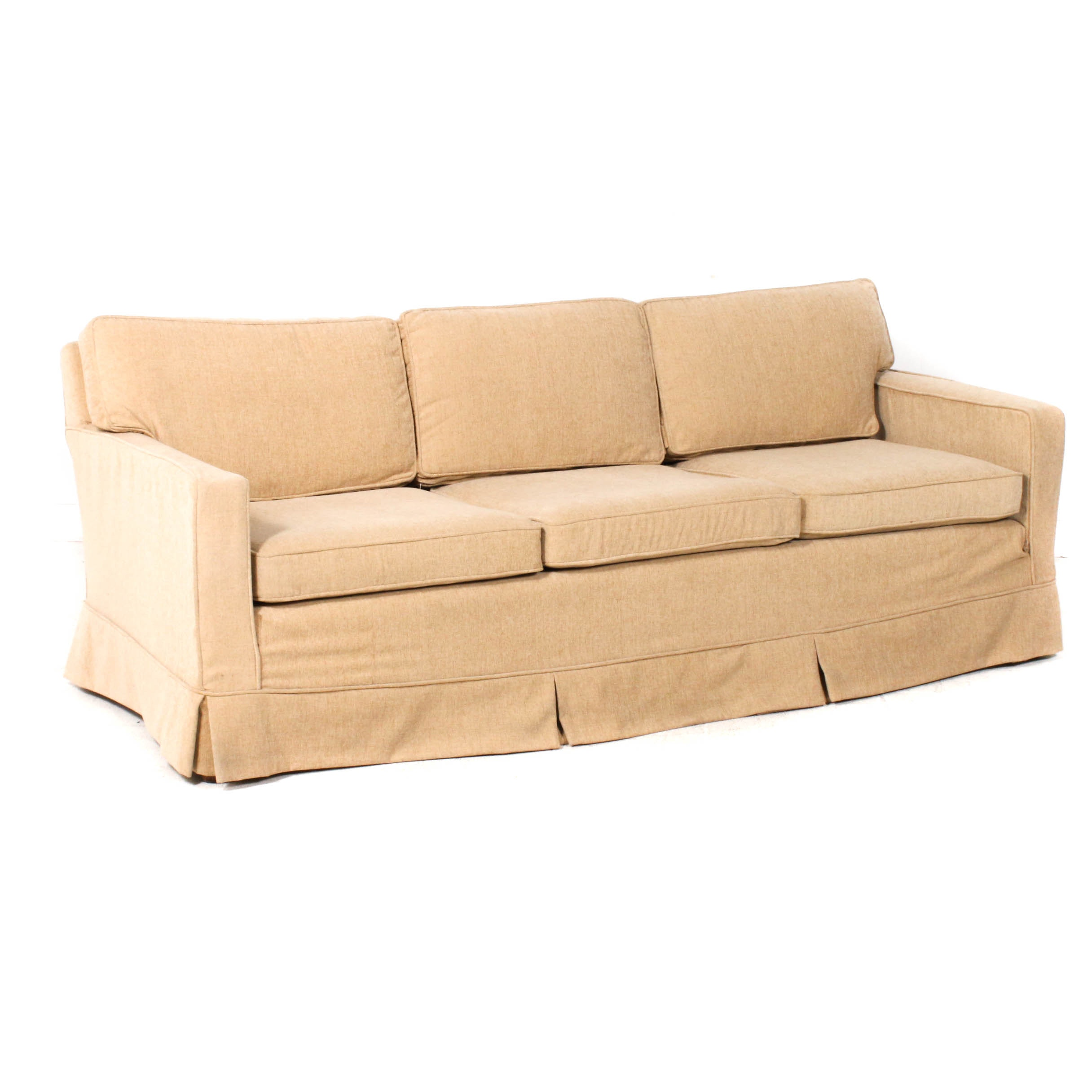 Carter Furniture Upholstered Wood Frame Sofa, Mid 20th Century