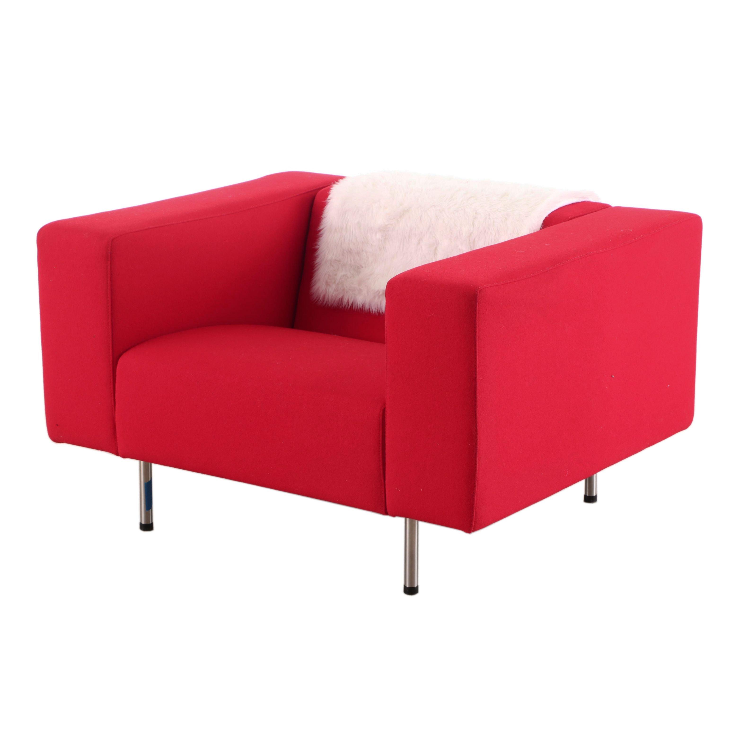 Mid Century Mod Style Padded Armchair