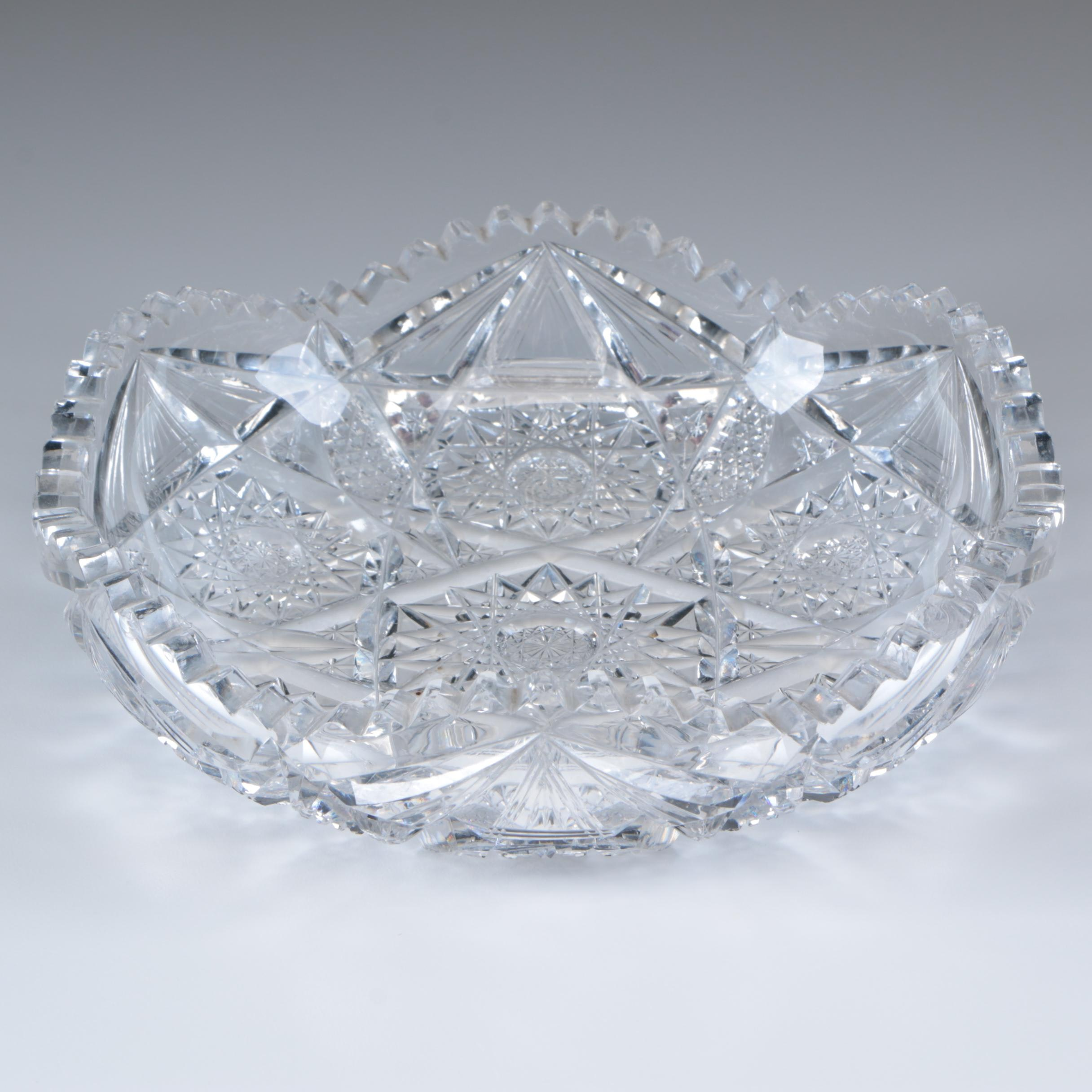 American Brilliant Cut Glass Bowl, Late 19th/Early 20th Century