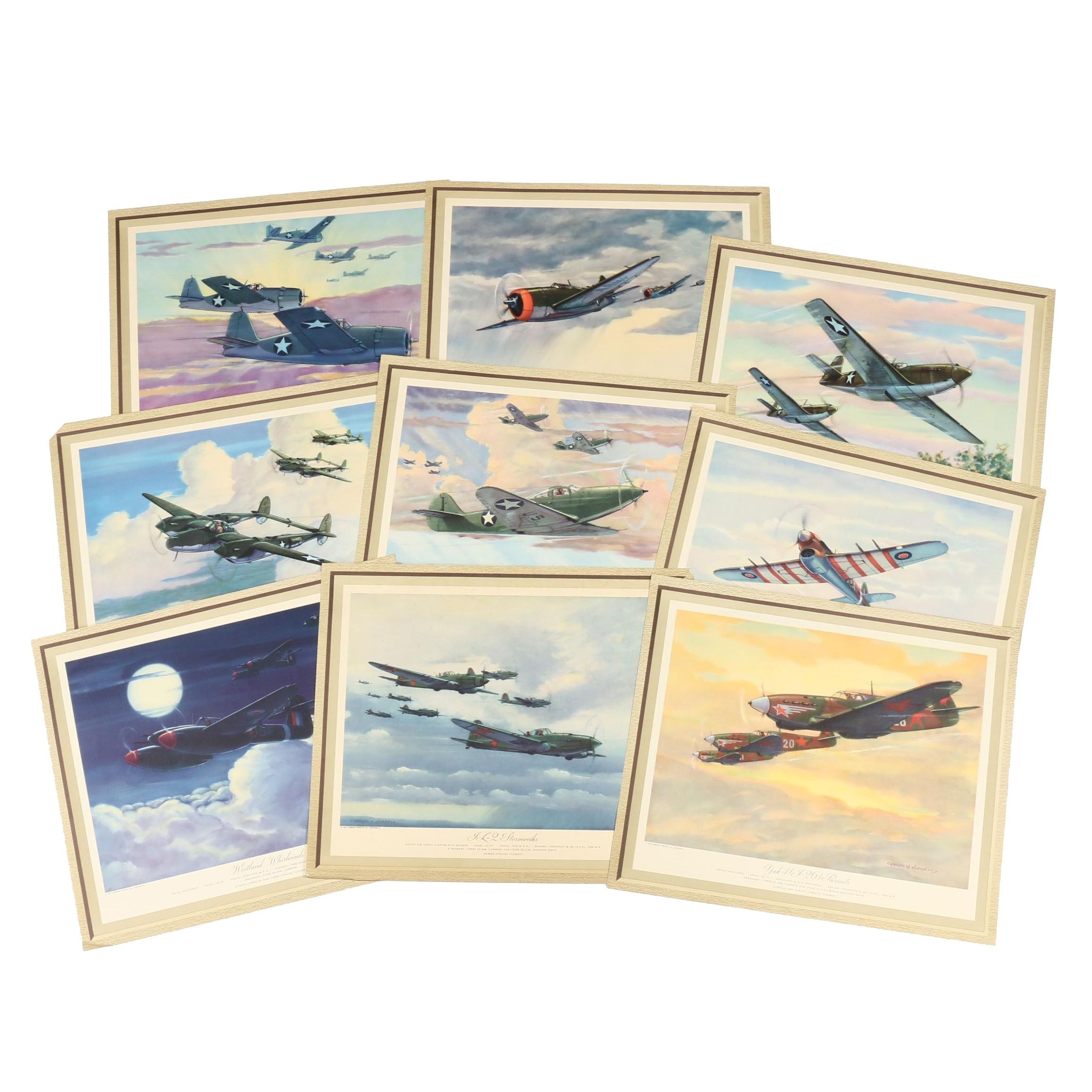 1944 Thompson Products Cleveland, Ohio Aviation Prints