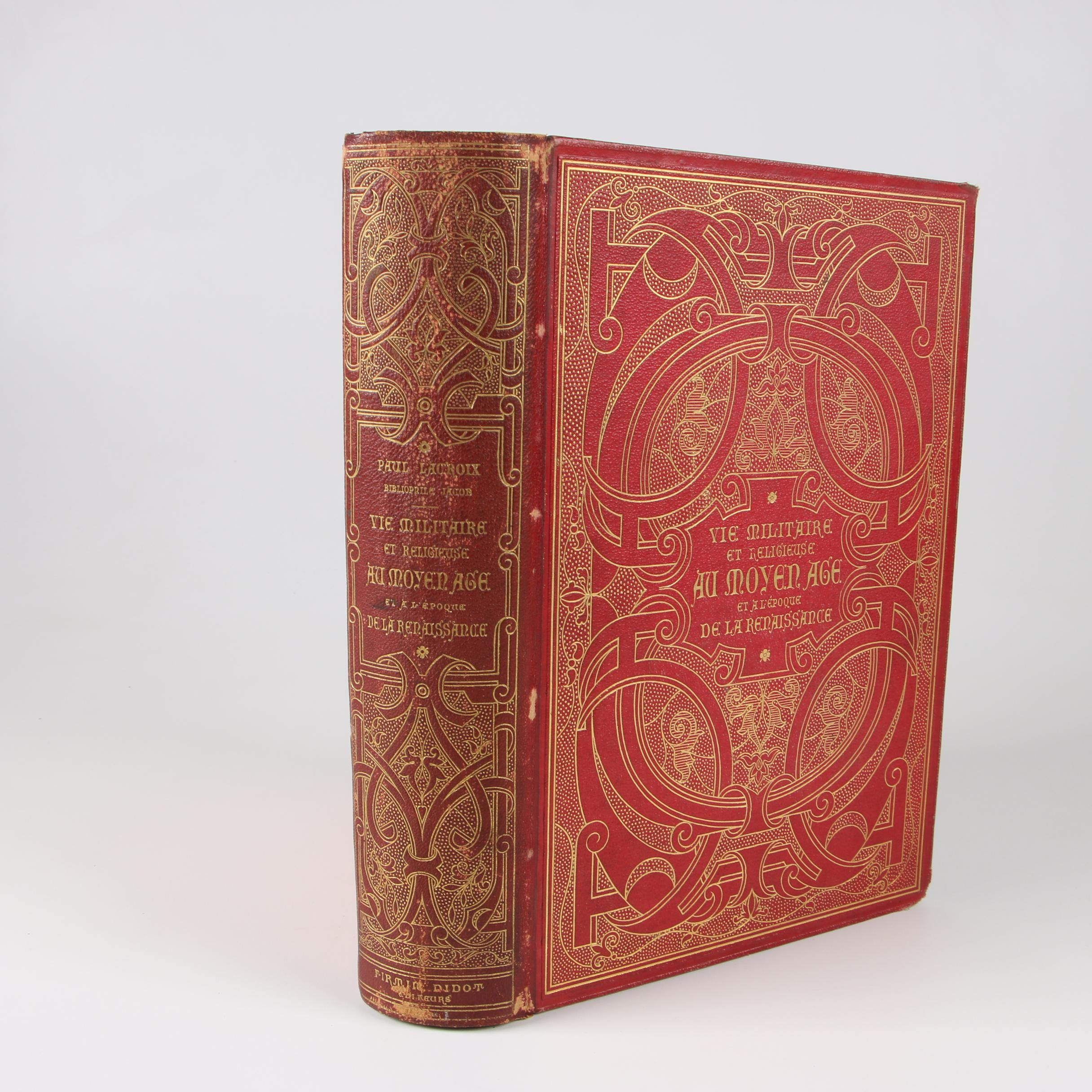 """1873 """"Vie militaire et religieuse au moyen âge"""" by Paul Lacroix"""