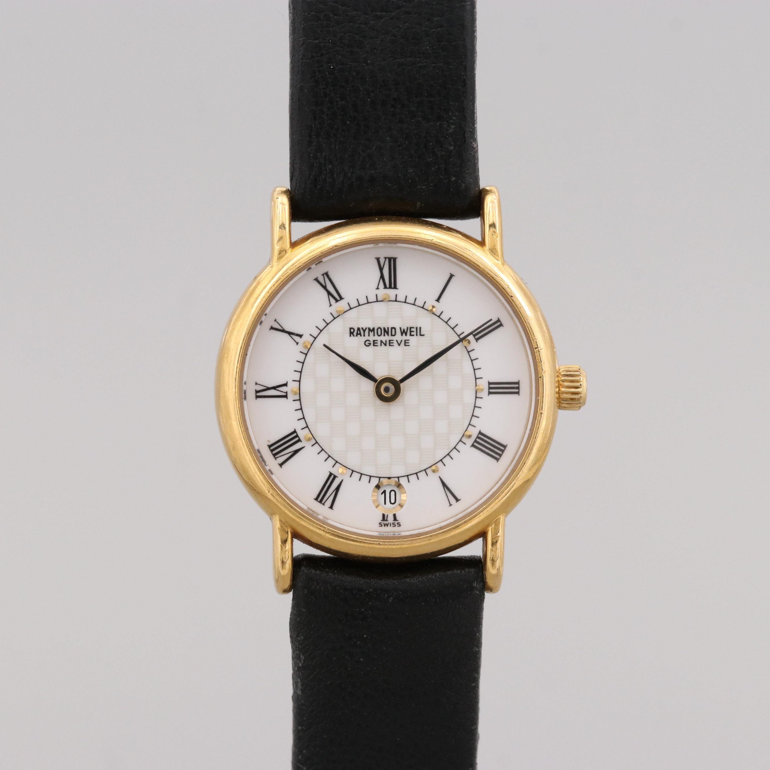 Raymond Weil 18K Gold Plated  Quartz Wristwatch