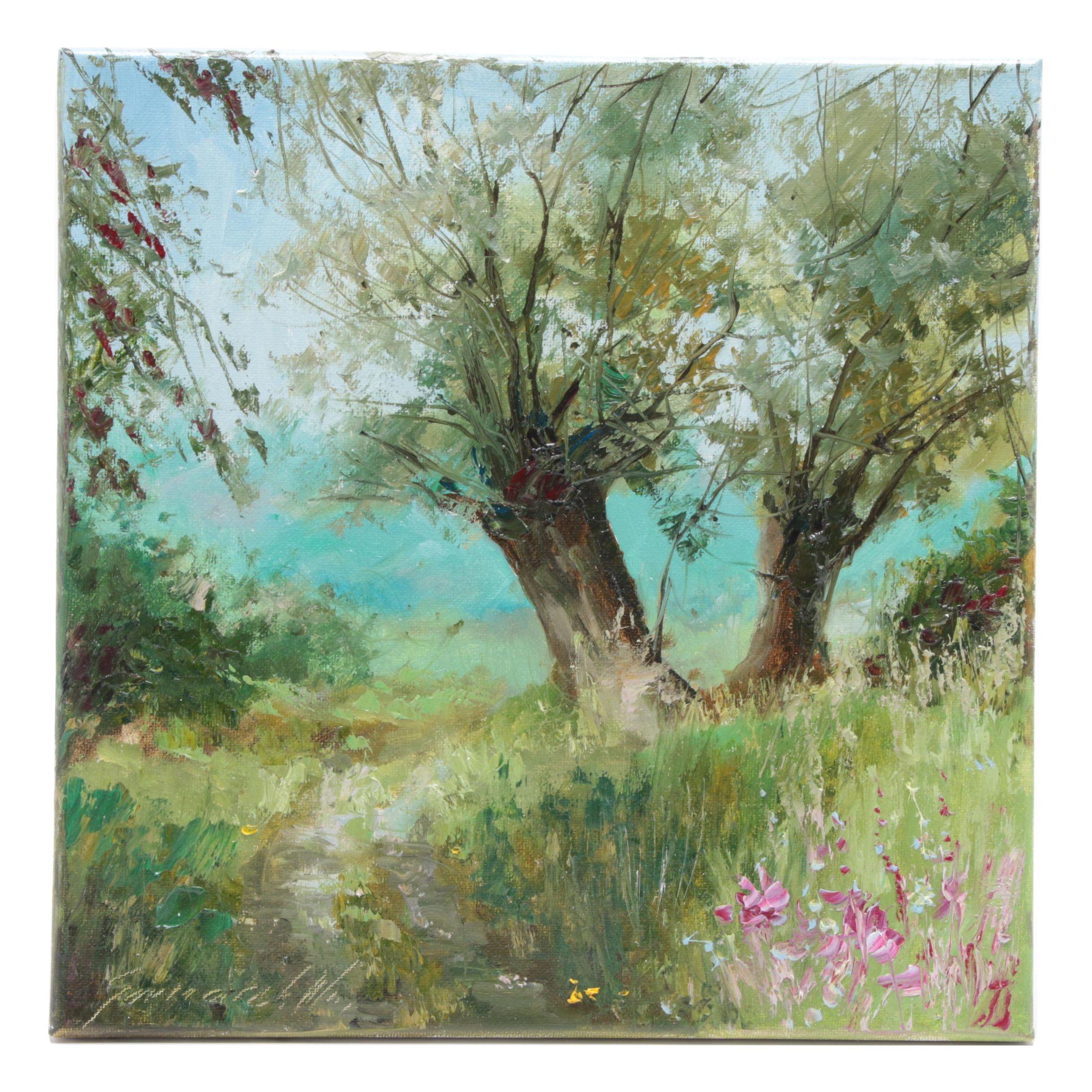 """Garncarek Aleksander Oil Painting """"Wieizby"""""""