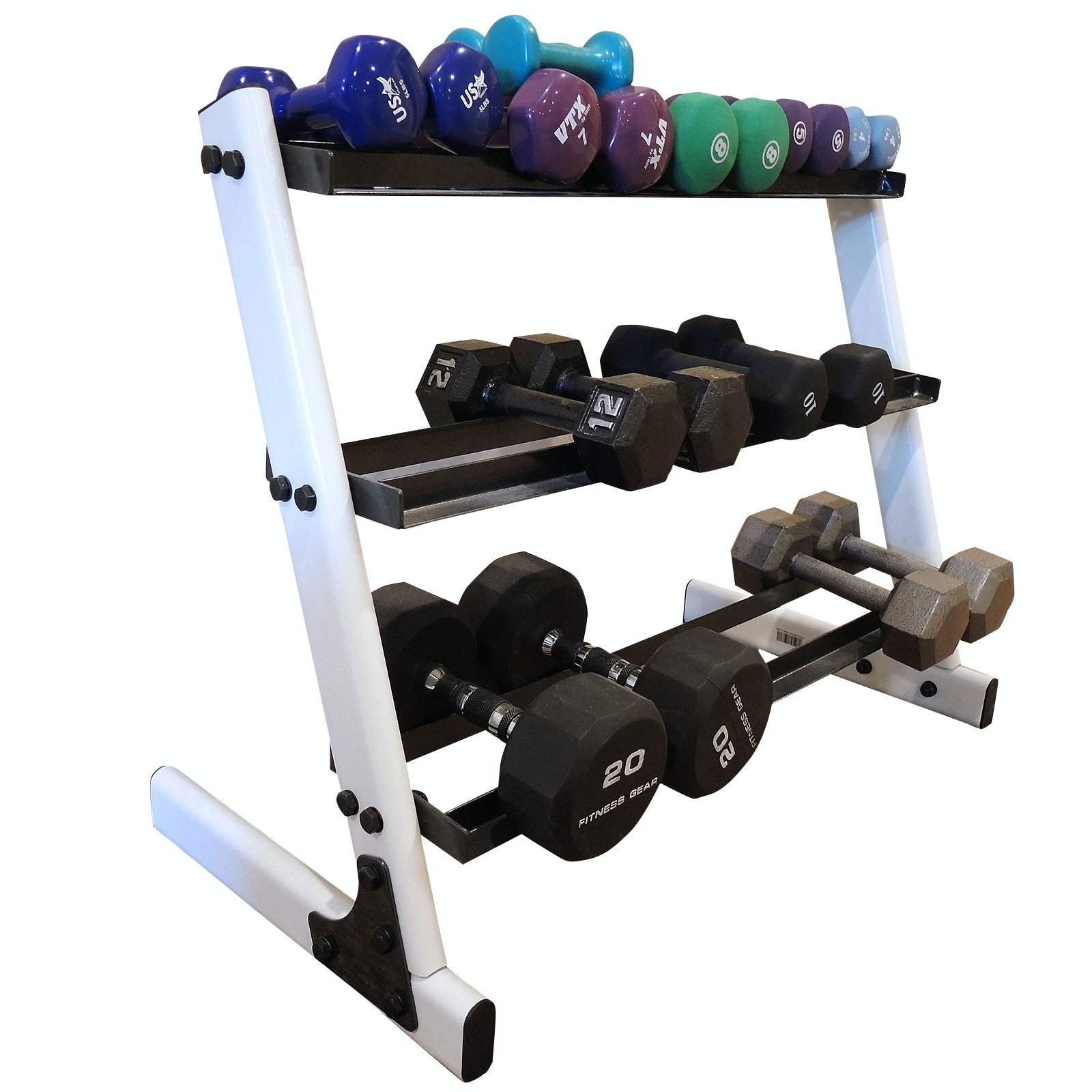 Barbells Assortment With Stand