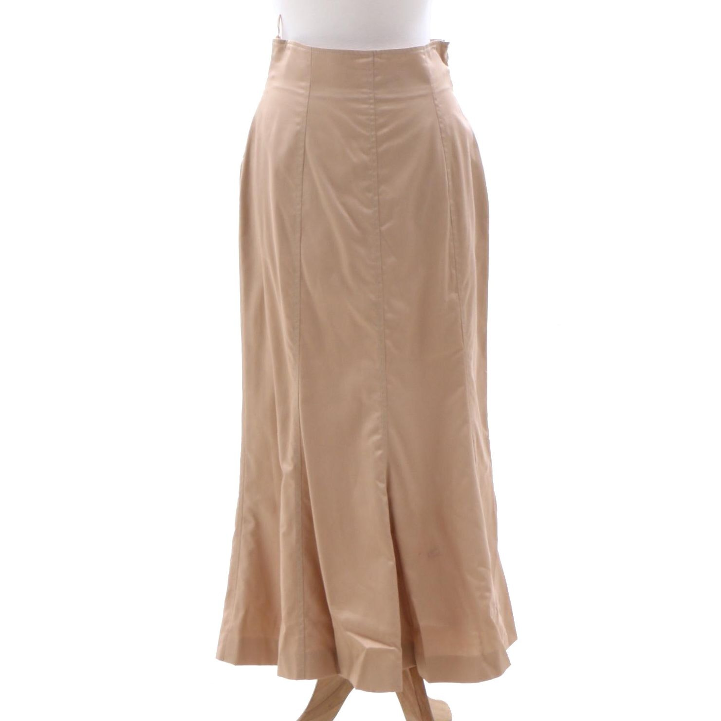 Christian Dior Boutique Paris Cotton and Leather Trumpet Style Skirt