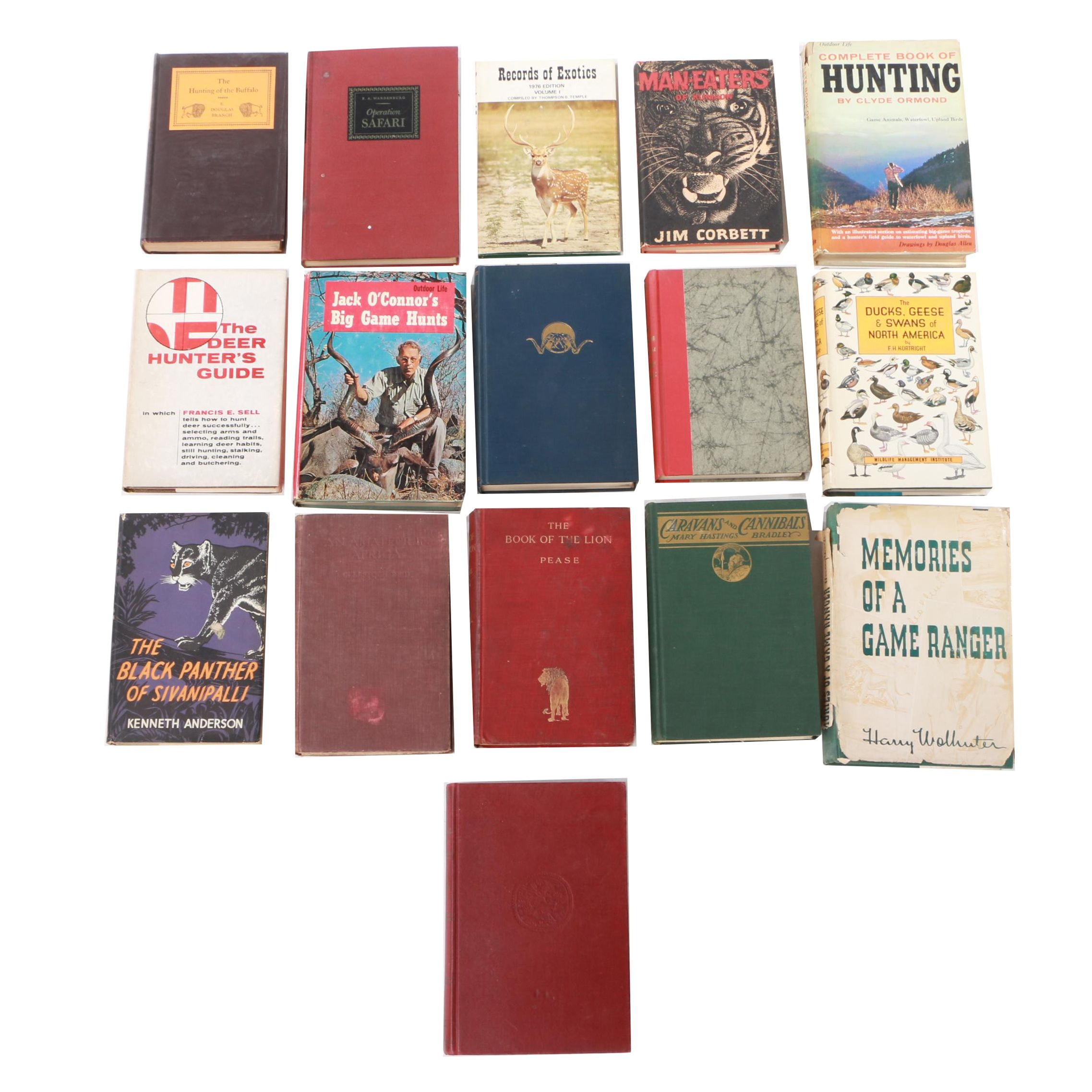 "Assorted Hunting Books featuring ""The Hunting and Exploring of Roosevelt,"" 1955"